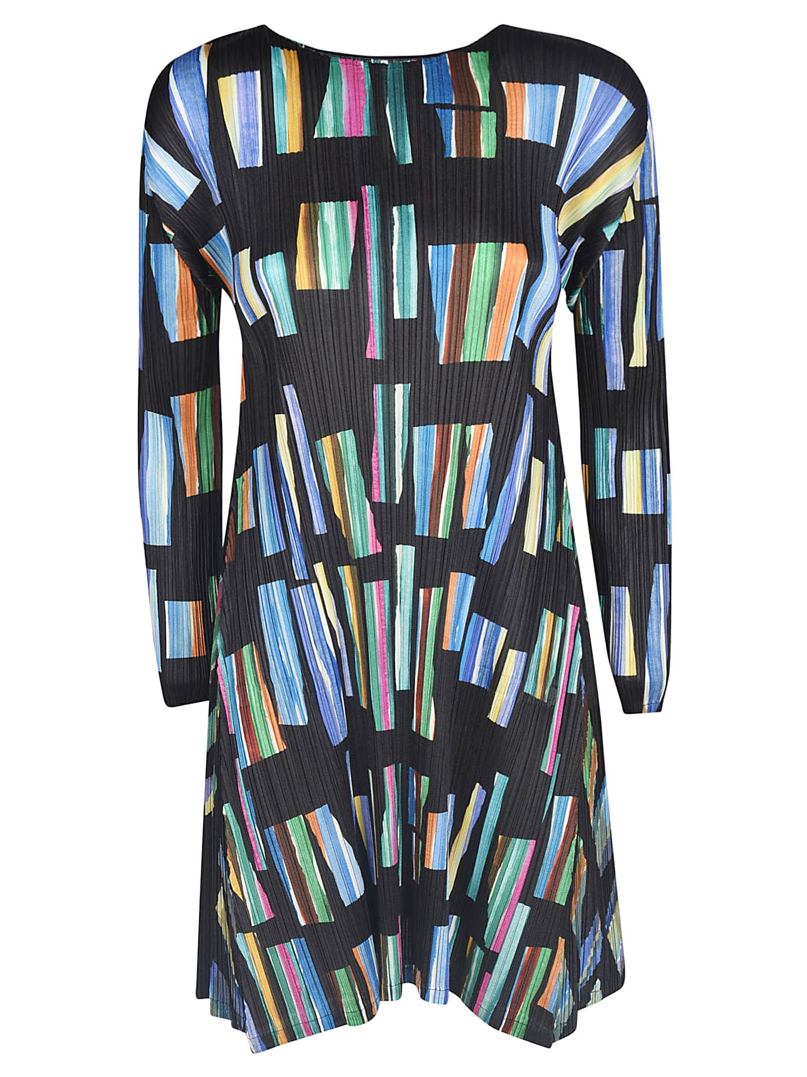 Buy Pleats Please Issey Miyake Hopscotch Colors Dress online, shop Pleats Please Issey Miyake with free shipping
