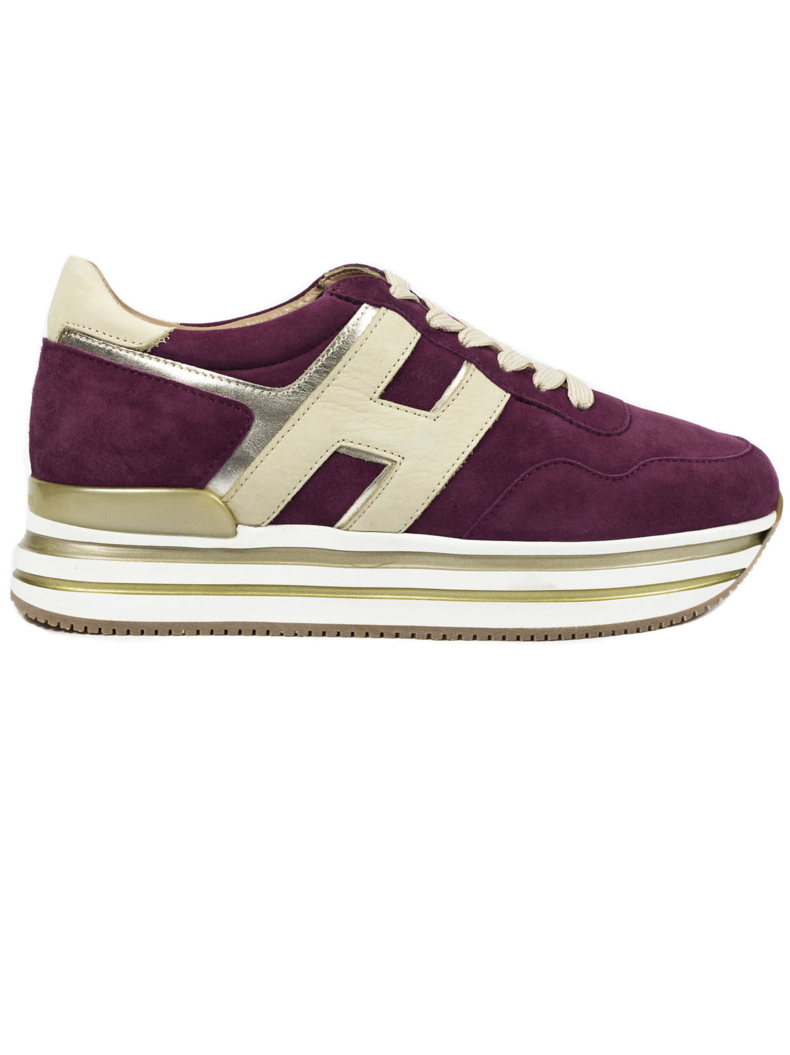 Hogan Purple Midi Platform Sneakers