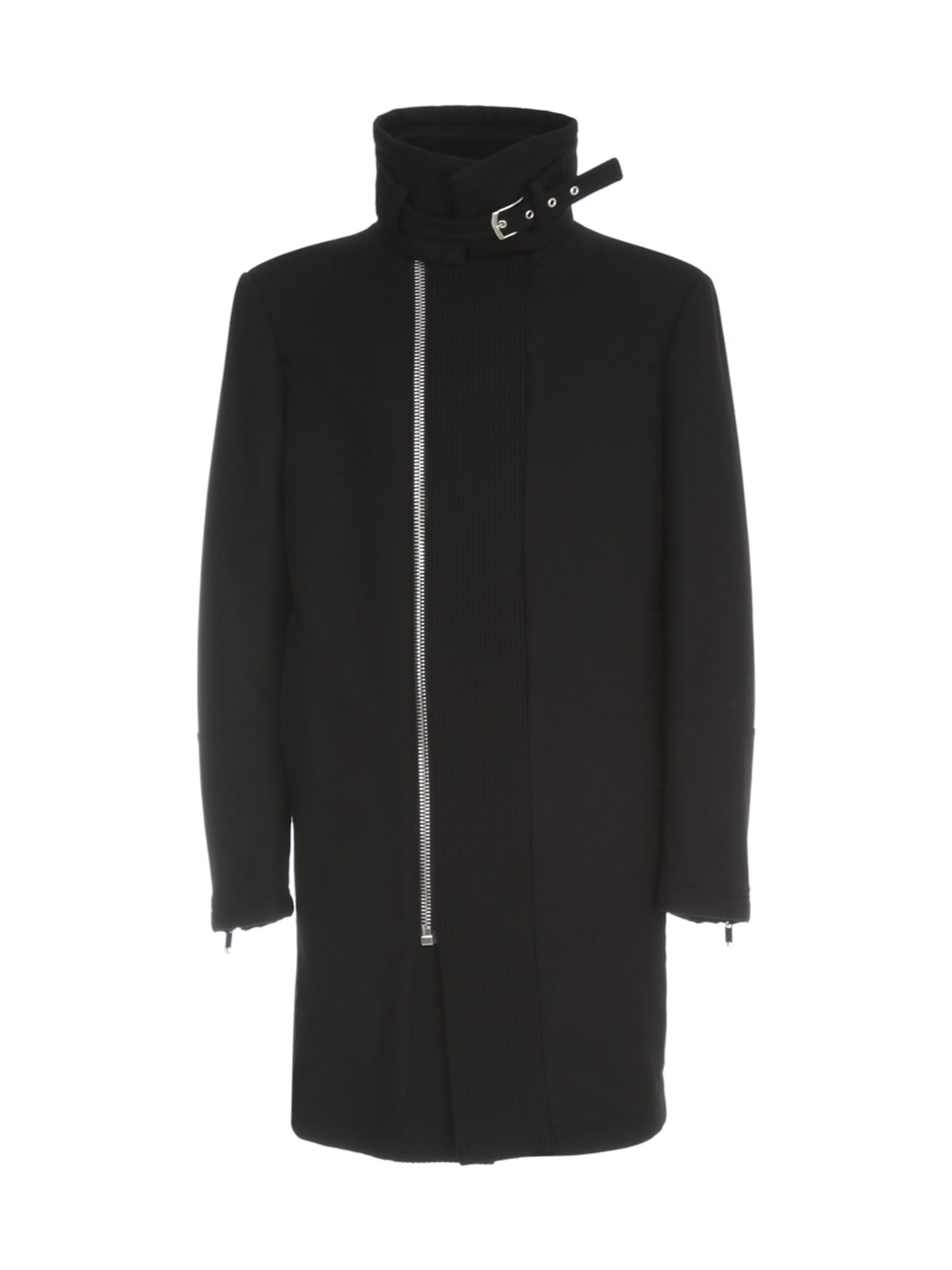Les Hommes COAT W/ HIGH KNITTED COLLAR