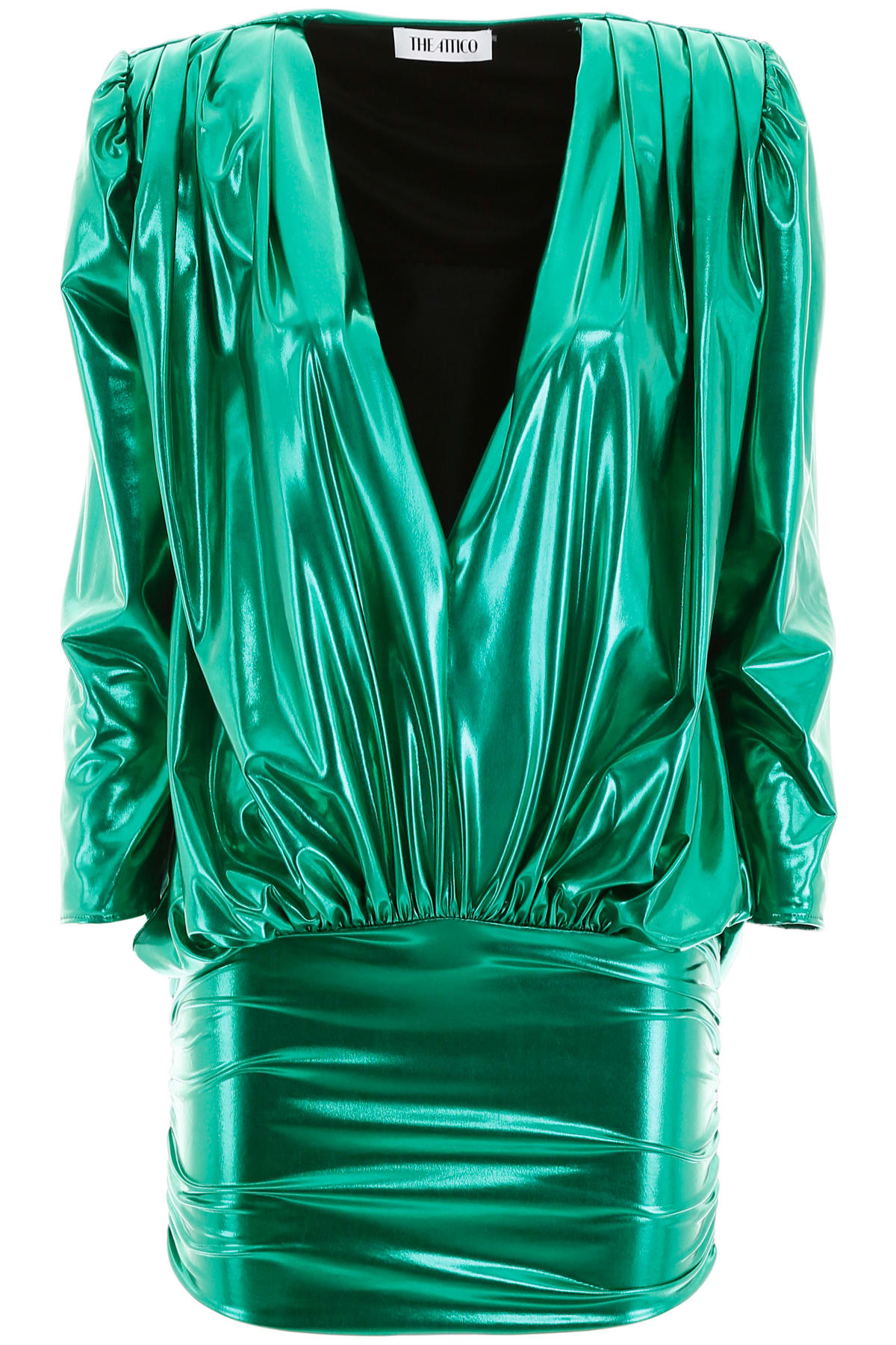 Buy The Attico Metallic Mini Dress online, shop The Attico with free shipping