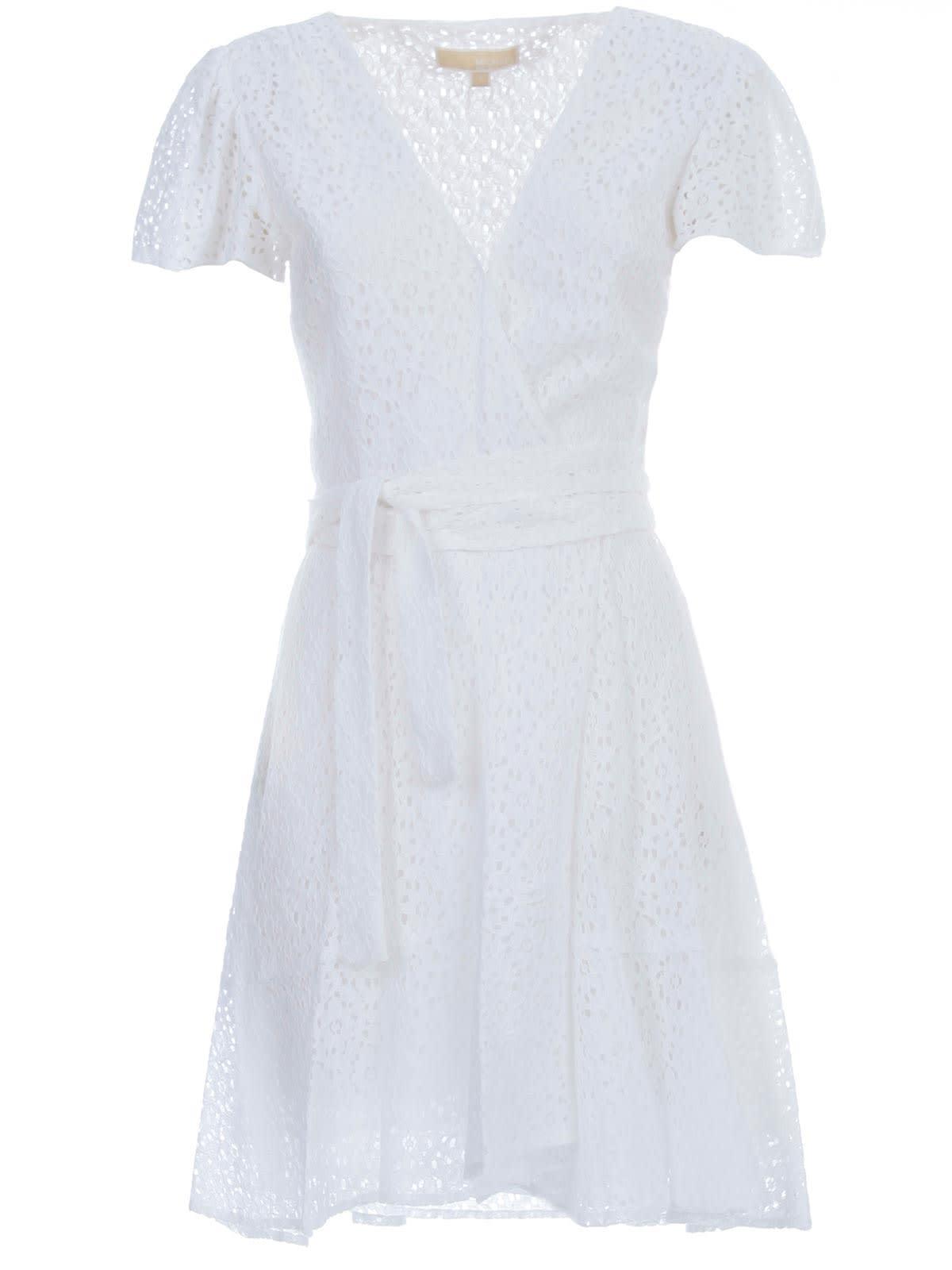 Buy MICHAEL Michael Kors Lace Wrap Dress online, shop MICHAEL Michael Kors with free shipping