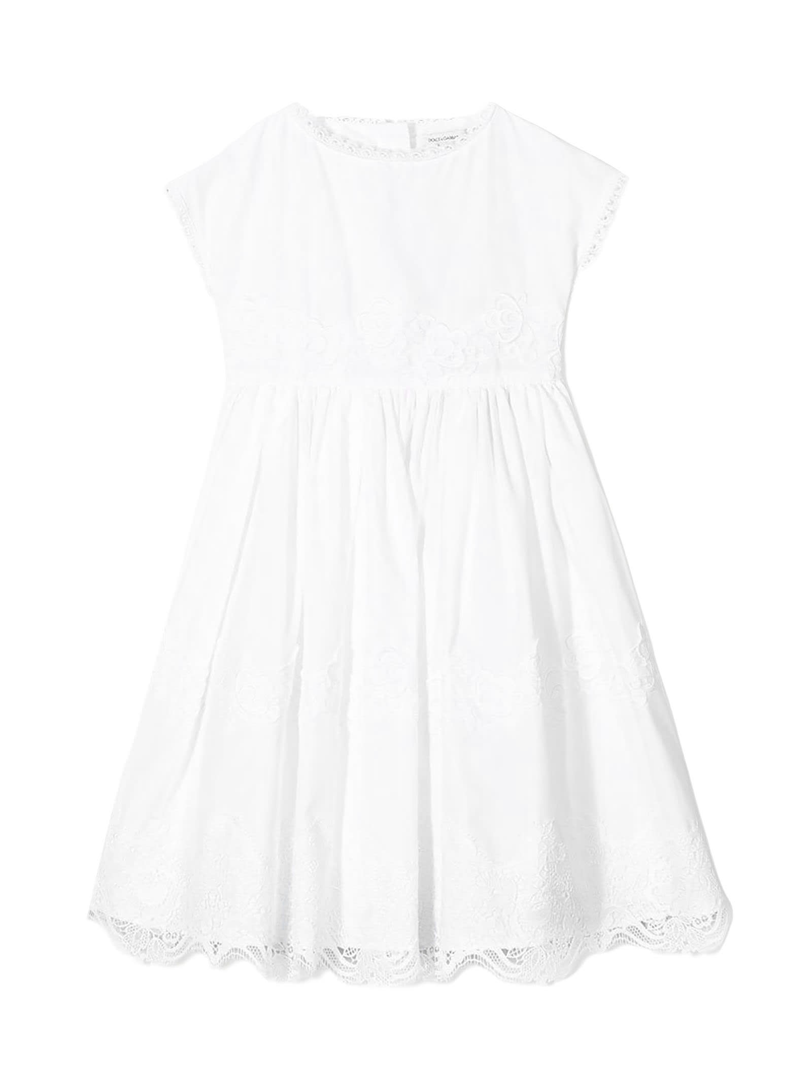 Dolce & Gabbana White Cotton Dress