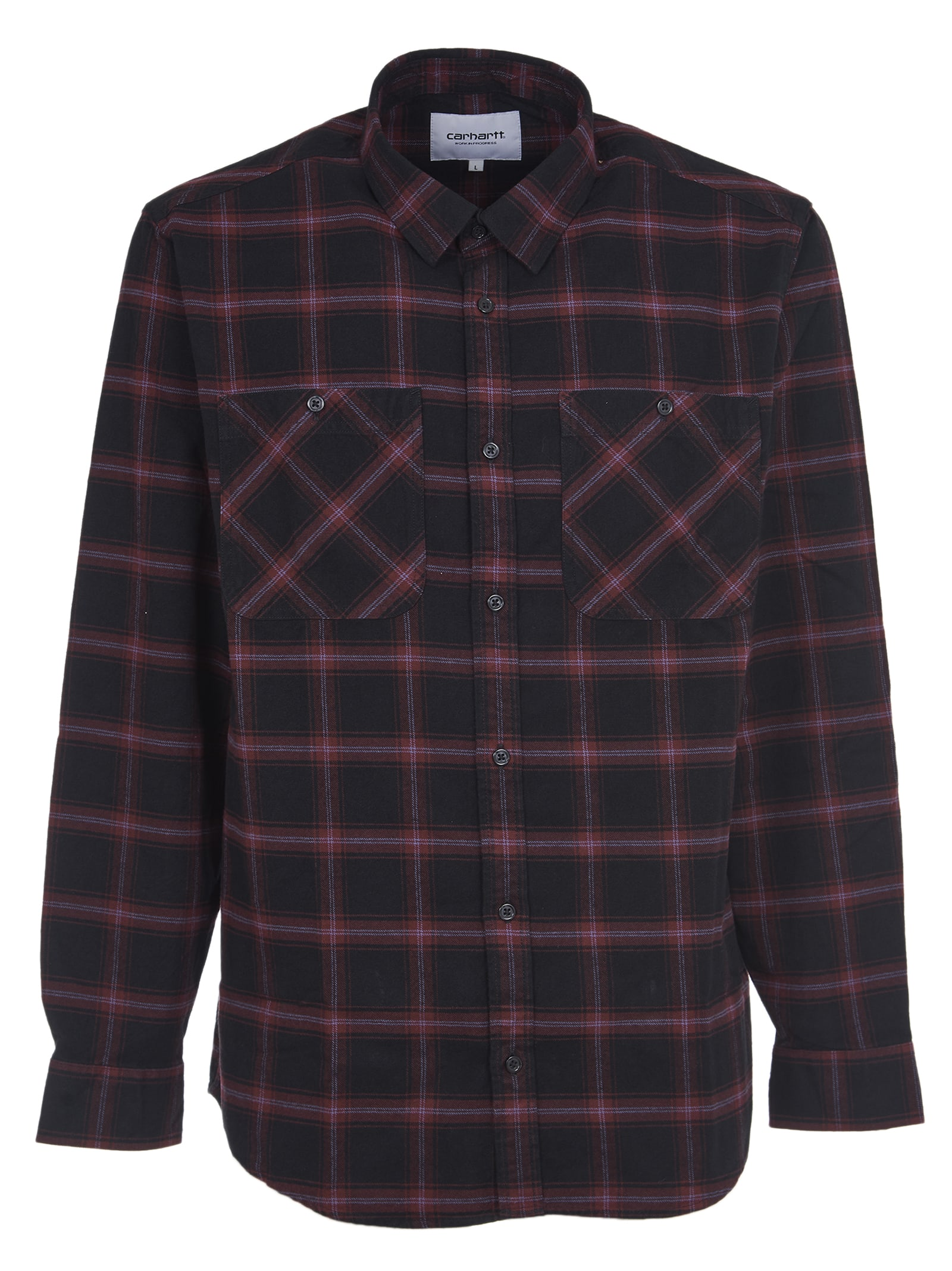 Black Shirt With Red Check