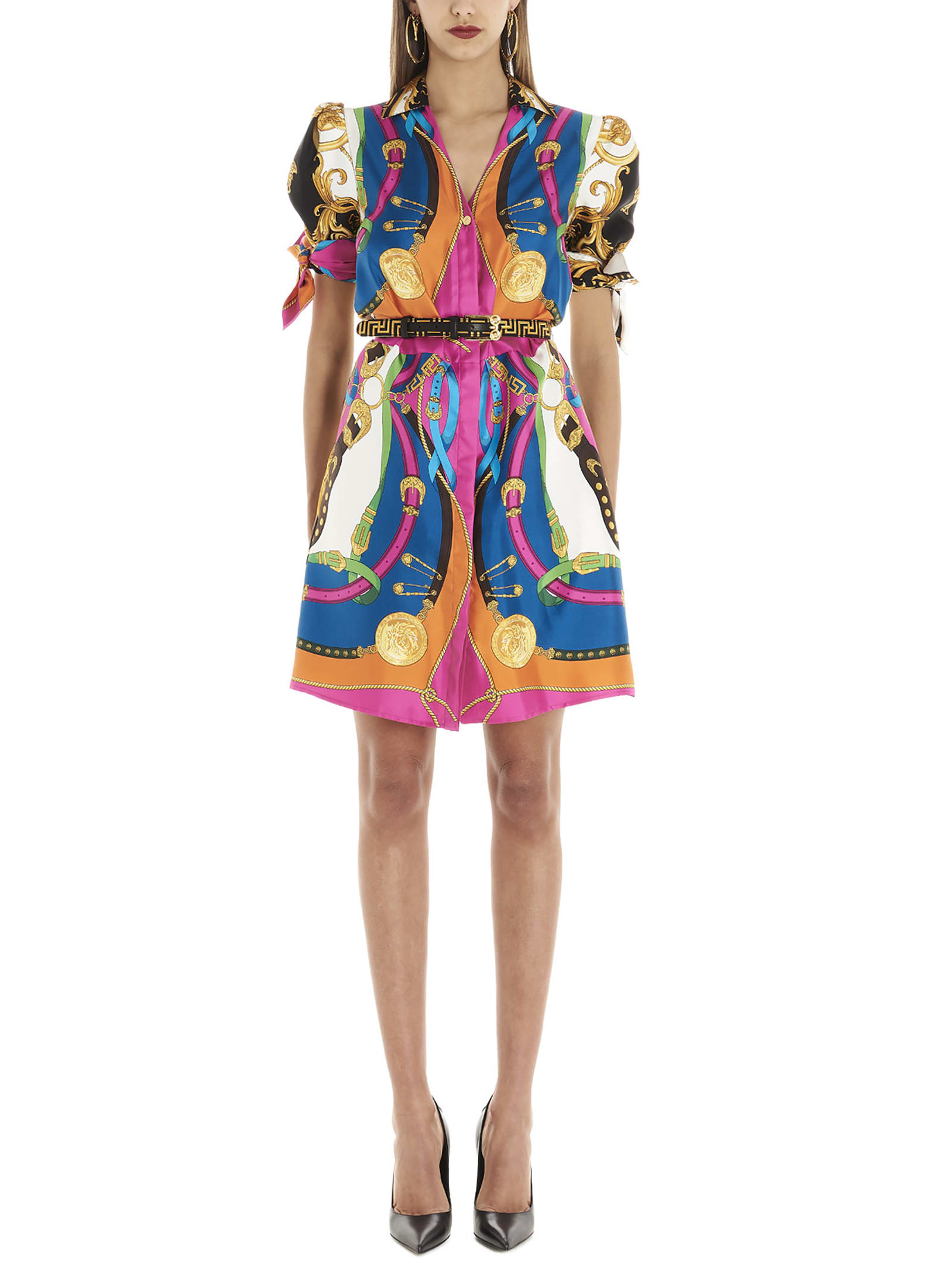 Buy Versace barocco & Rodeo Dress online, shop Versace with free shipping