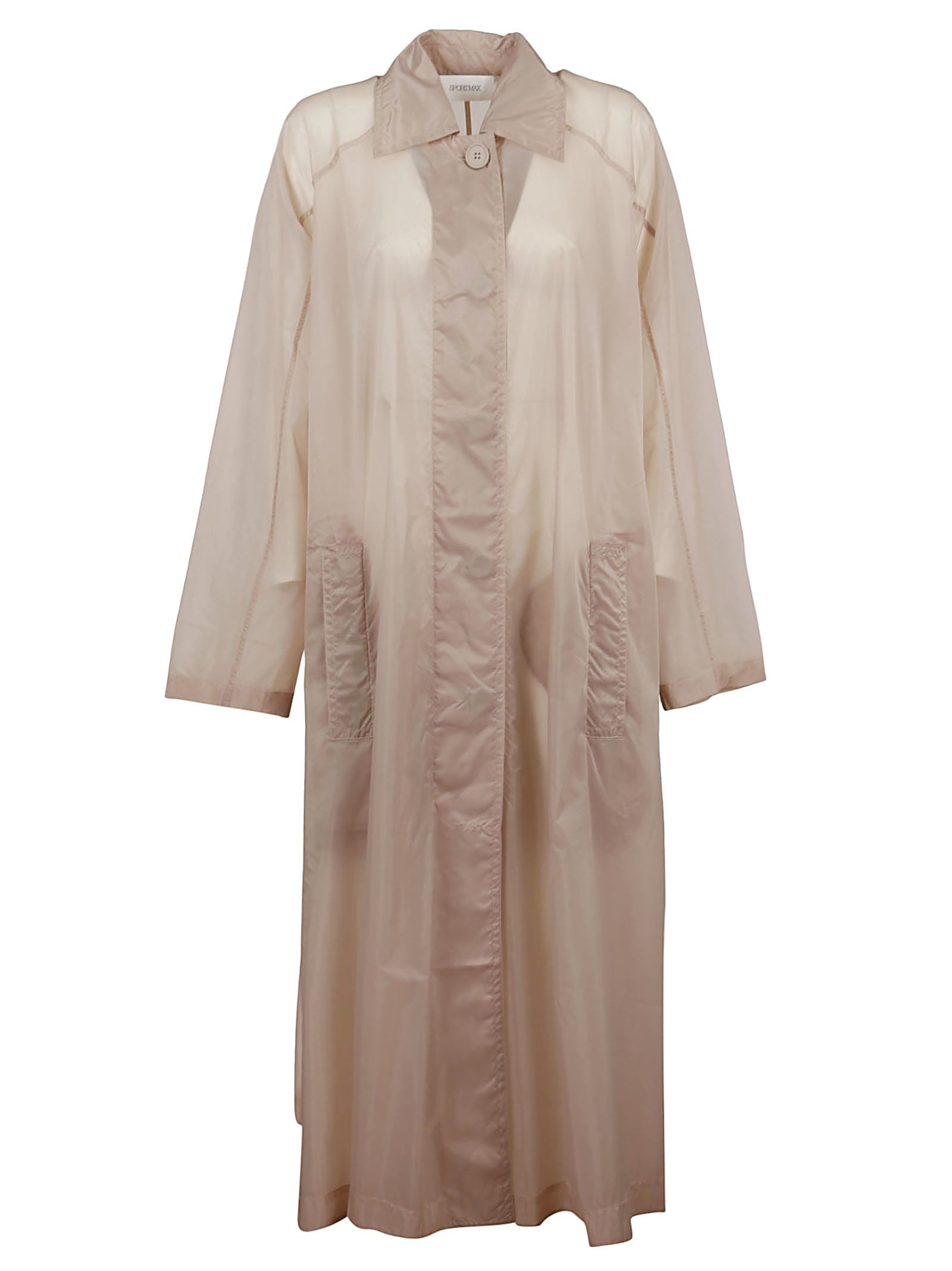 Sportmax BEIGE TECHNICAL FABRIC TRENCH