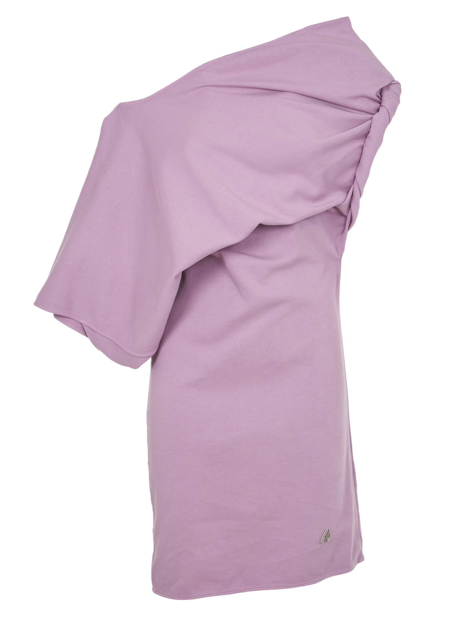 Buy The Attico Lilac Mini Dress online, shop The Attico with free shipping