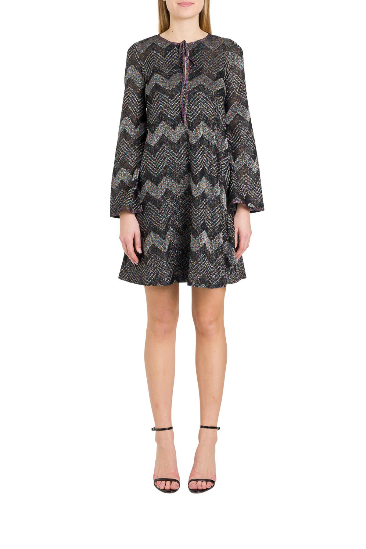 Buy M Missoni Herringbone Lurex A-line Dress online, shop M Missoni with free shipping