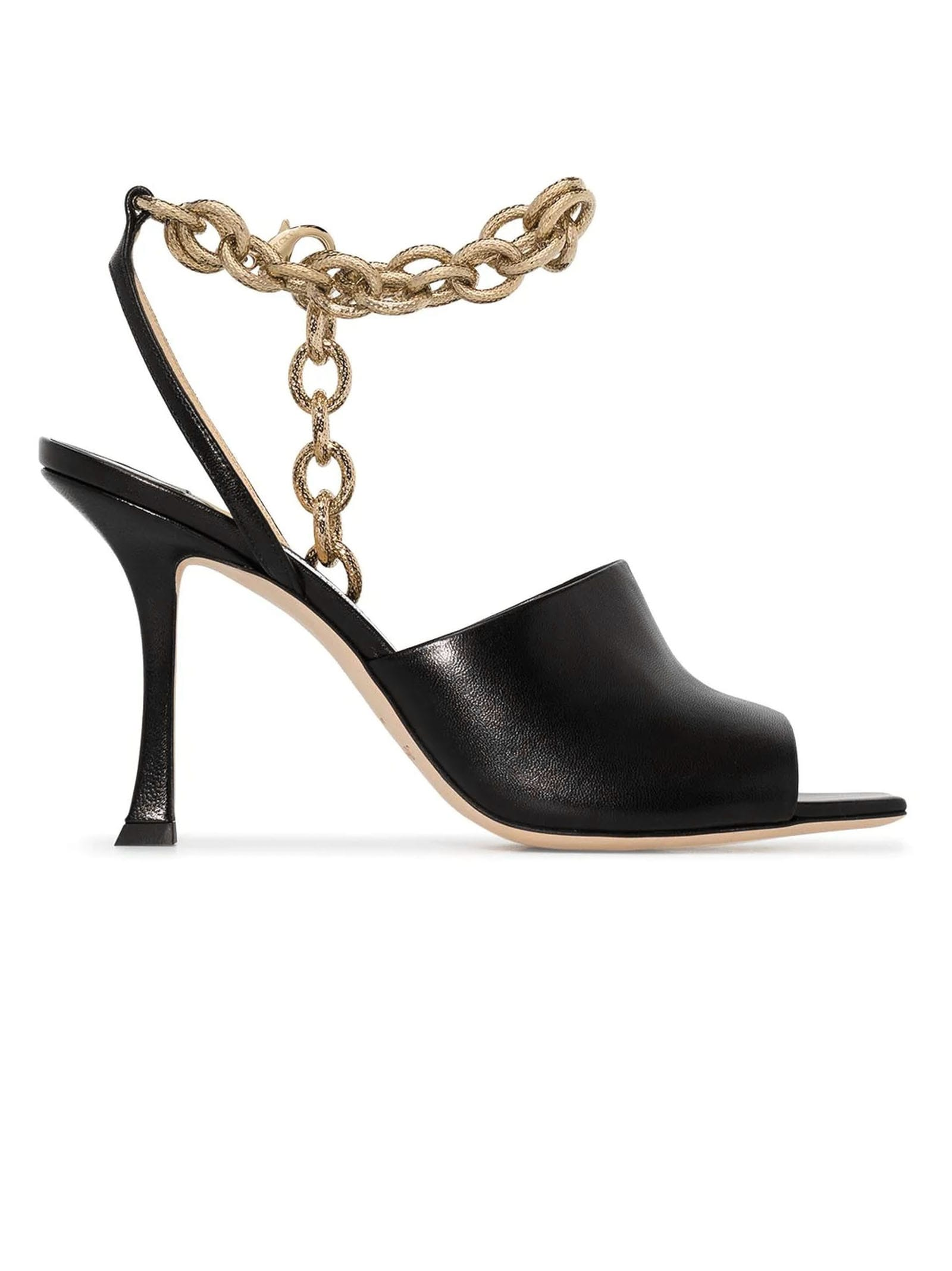 Buy Jimmy Choo Black Leather Sae Sandal online, shop Jimmy Choo shoes with free shipping
