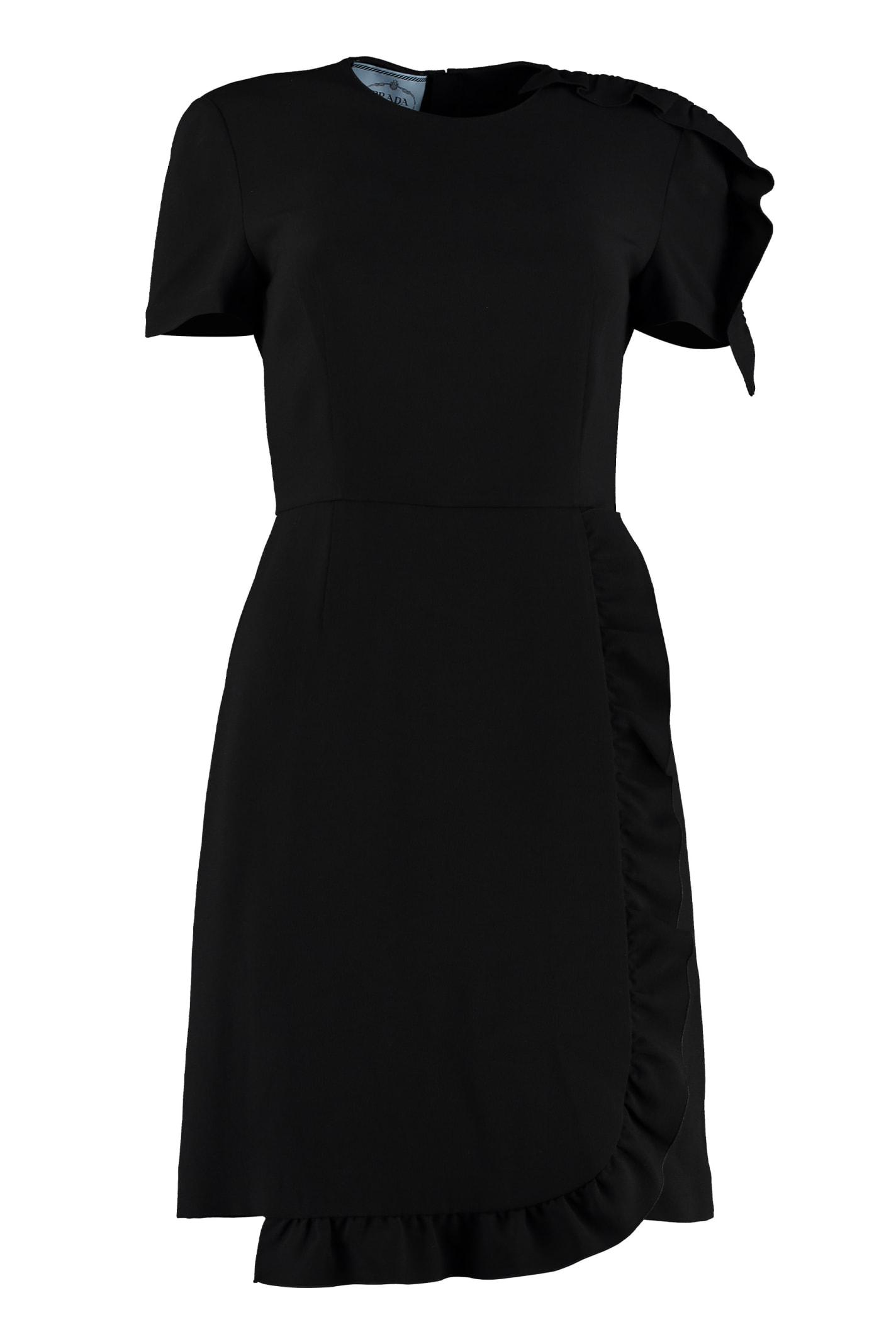 Buy Prada Ruffled Sheath Dress online, shop Prada with free shipping