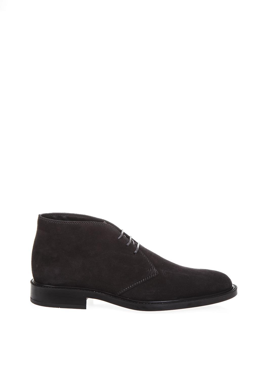 Tods Dark Gray Suede Desert Boots
