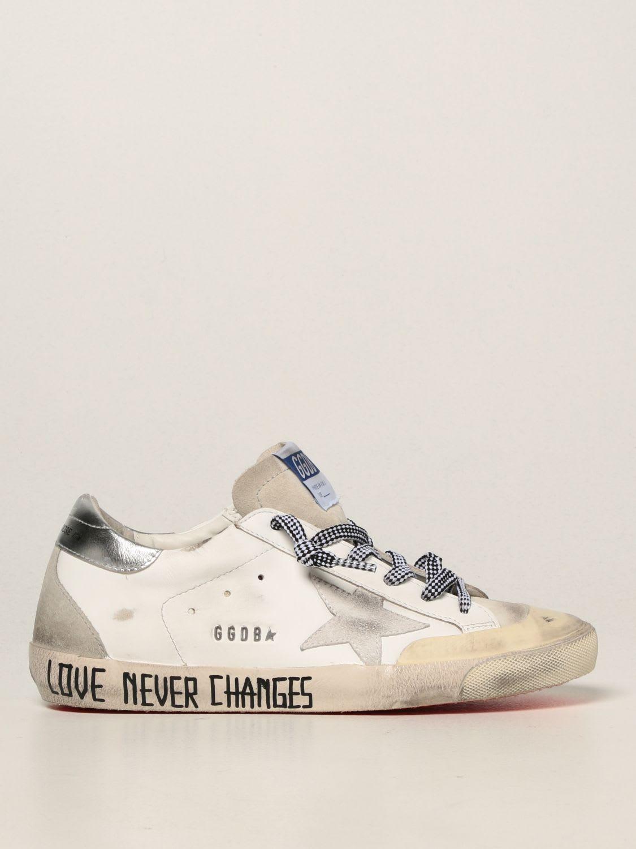 Golden Goose Sneakers Super-star Pen Star Golden Goose Sneakers In Smooth Leather