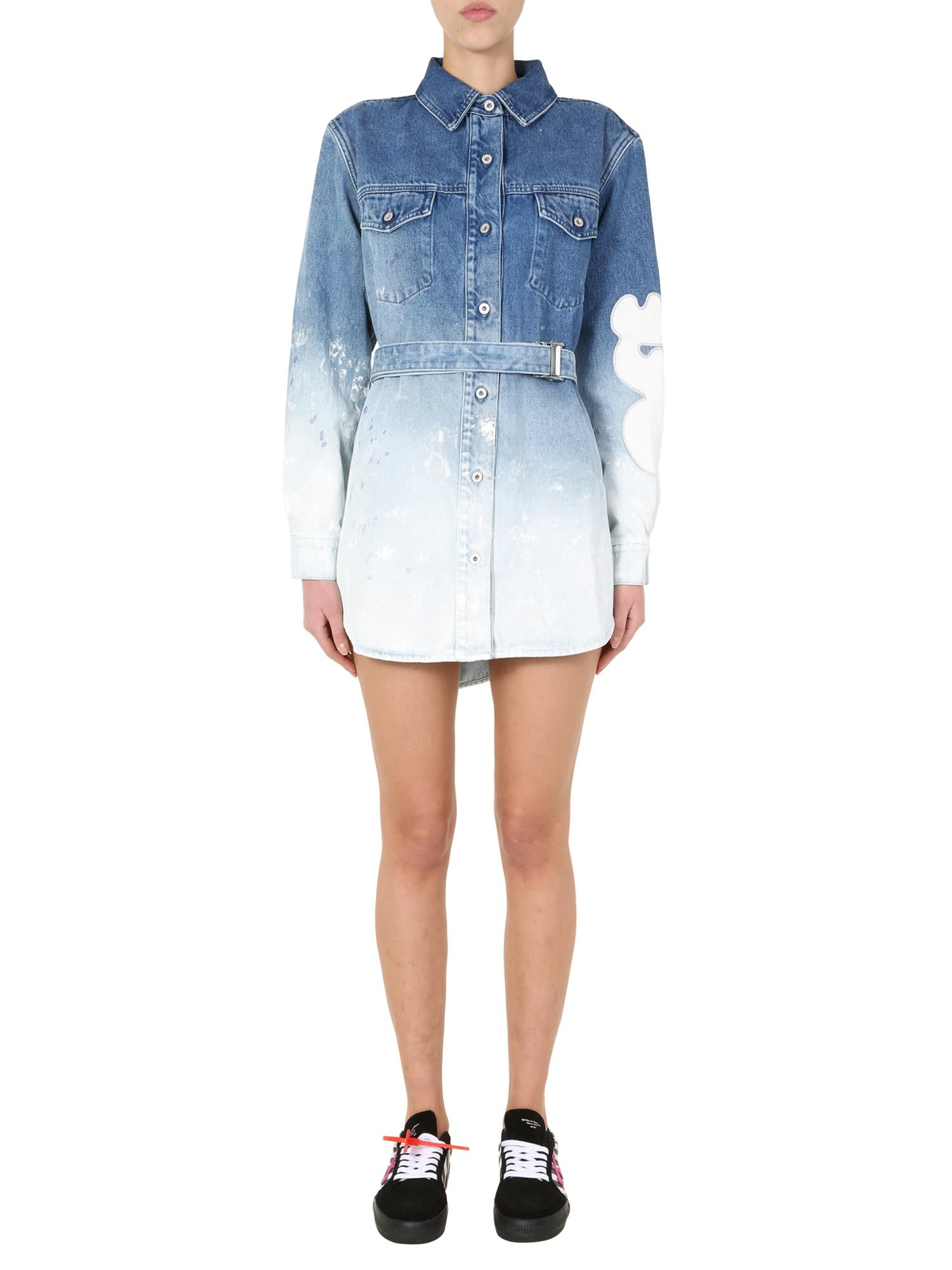 Buy Off-White Denim Dress online, shop Off-White with free shipping