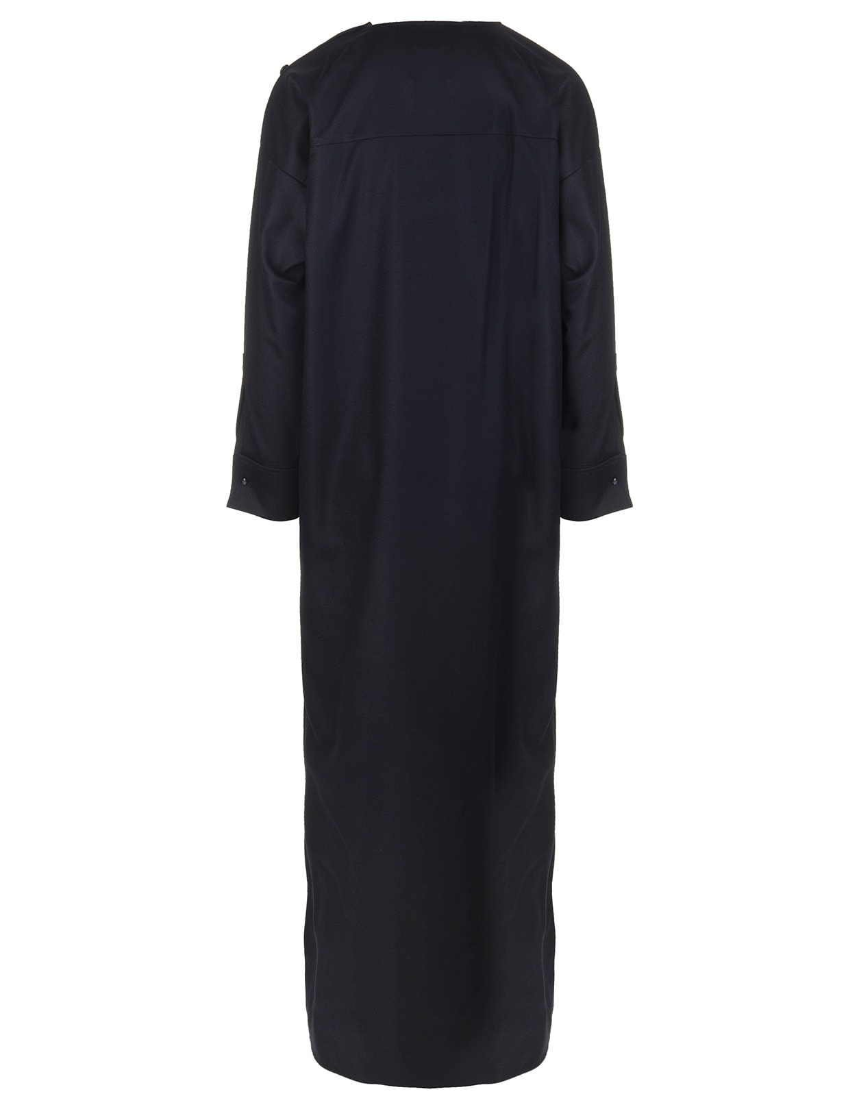 Dark Blue Long Wool Dress