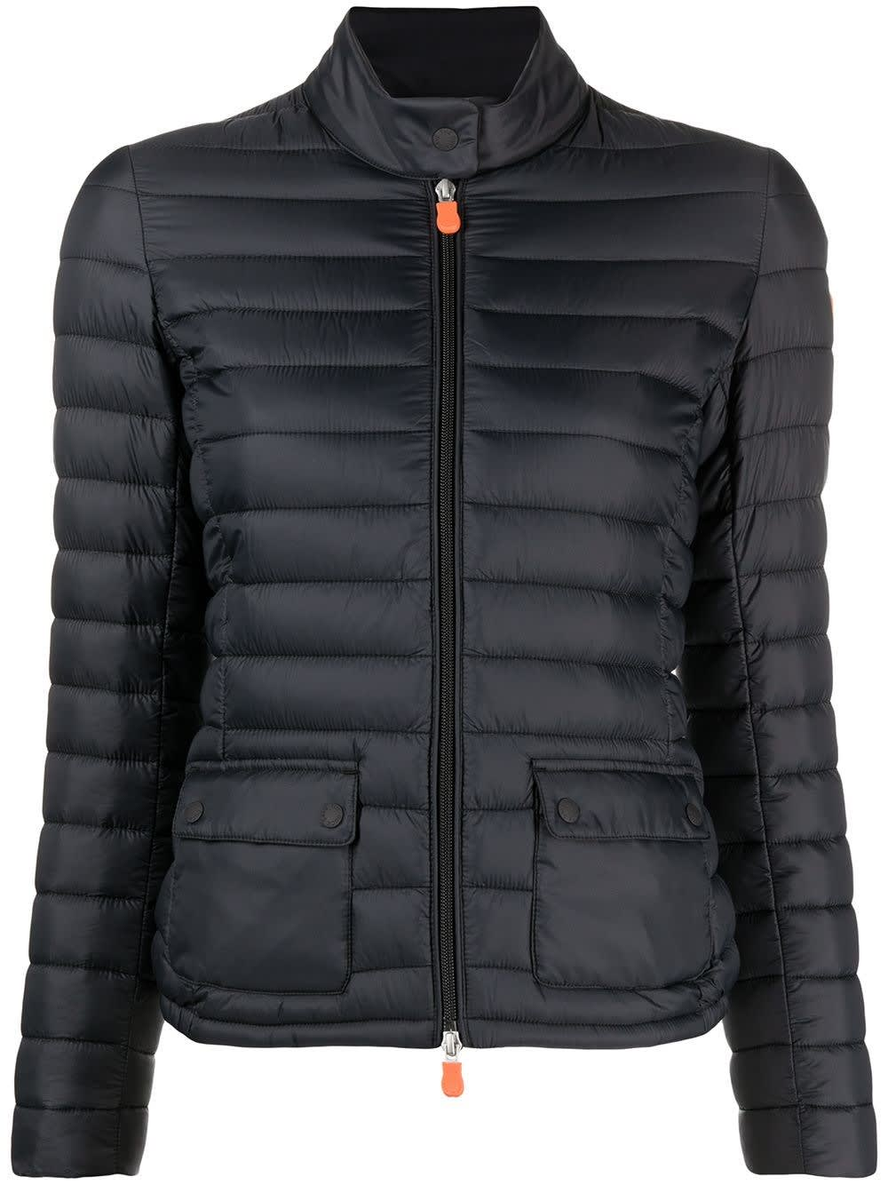 Save The Duck BLAKE GIGA ECOLOGICAL DOWN JACKET IN BLACK NYLON