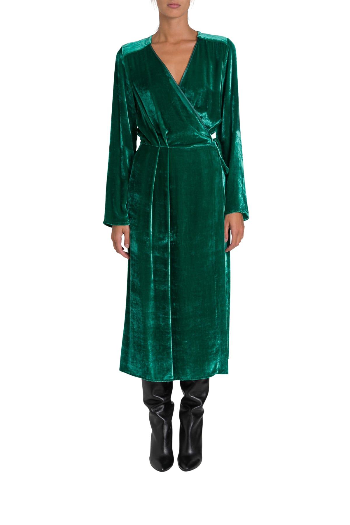 Photo of  SEMICOUTURE Griselda Wrap Dress- shop SEMICOUTURE  online sales