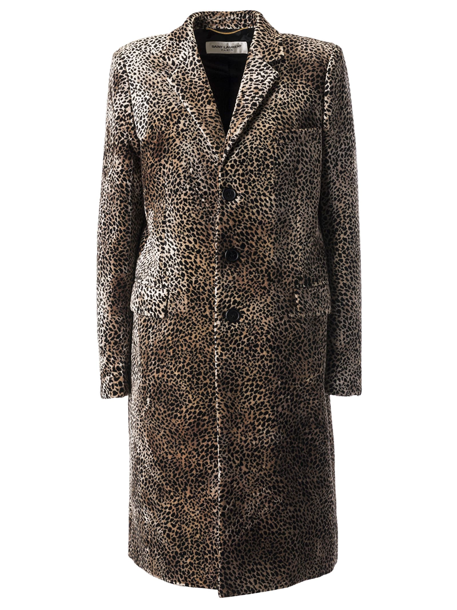 Saint Laurent Leopard Pattern Coat