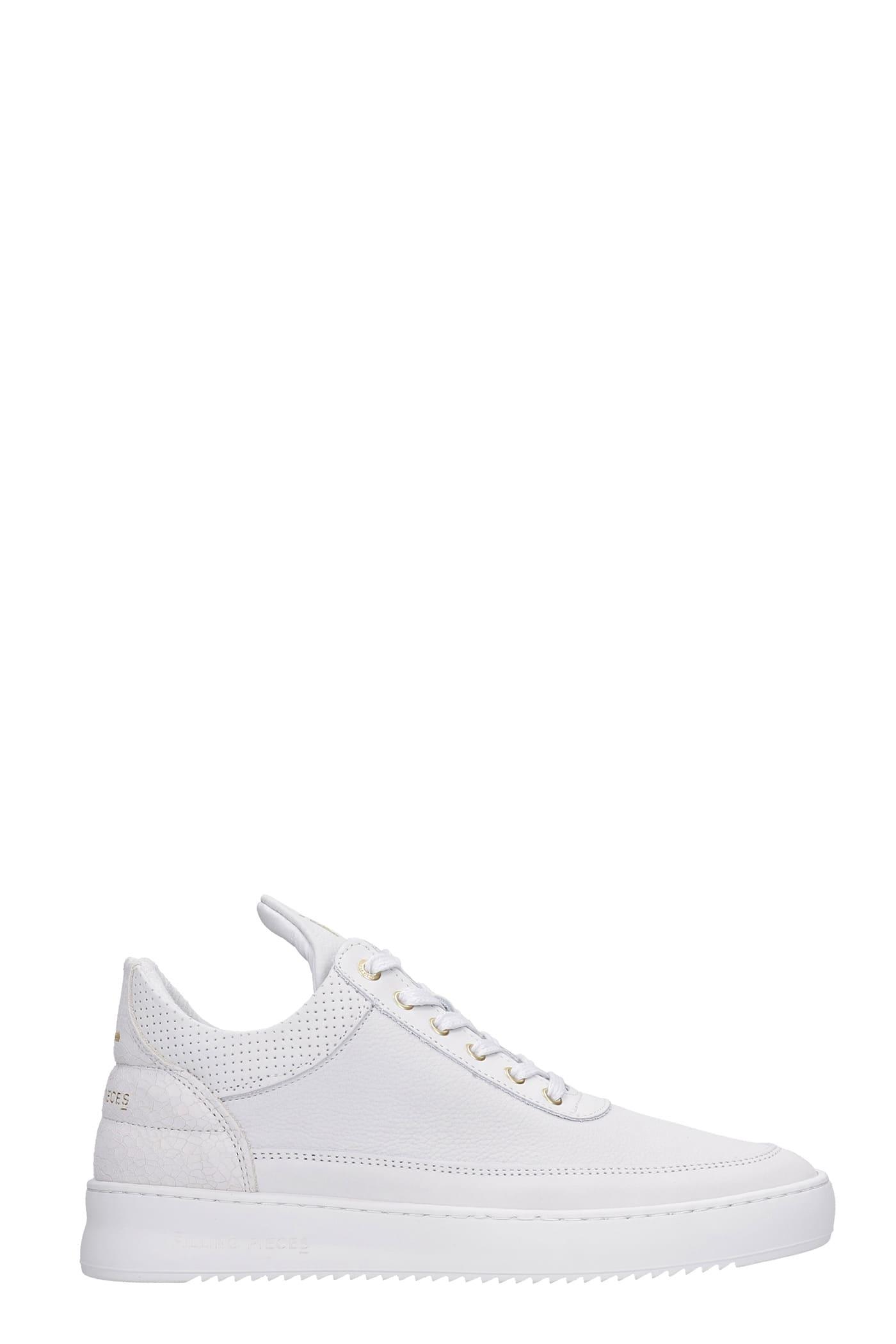 Low Top Ripple Sneakers In White Nubuck