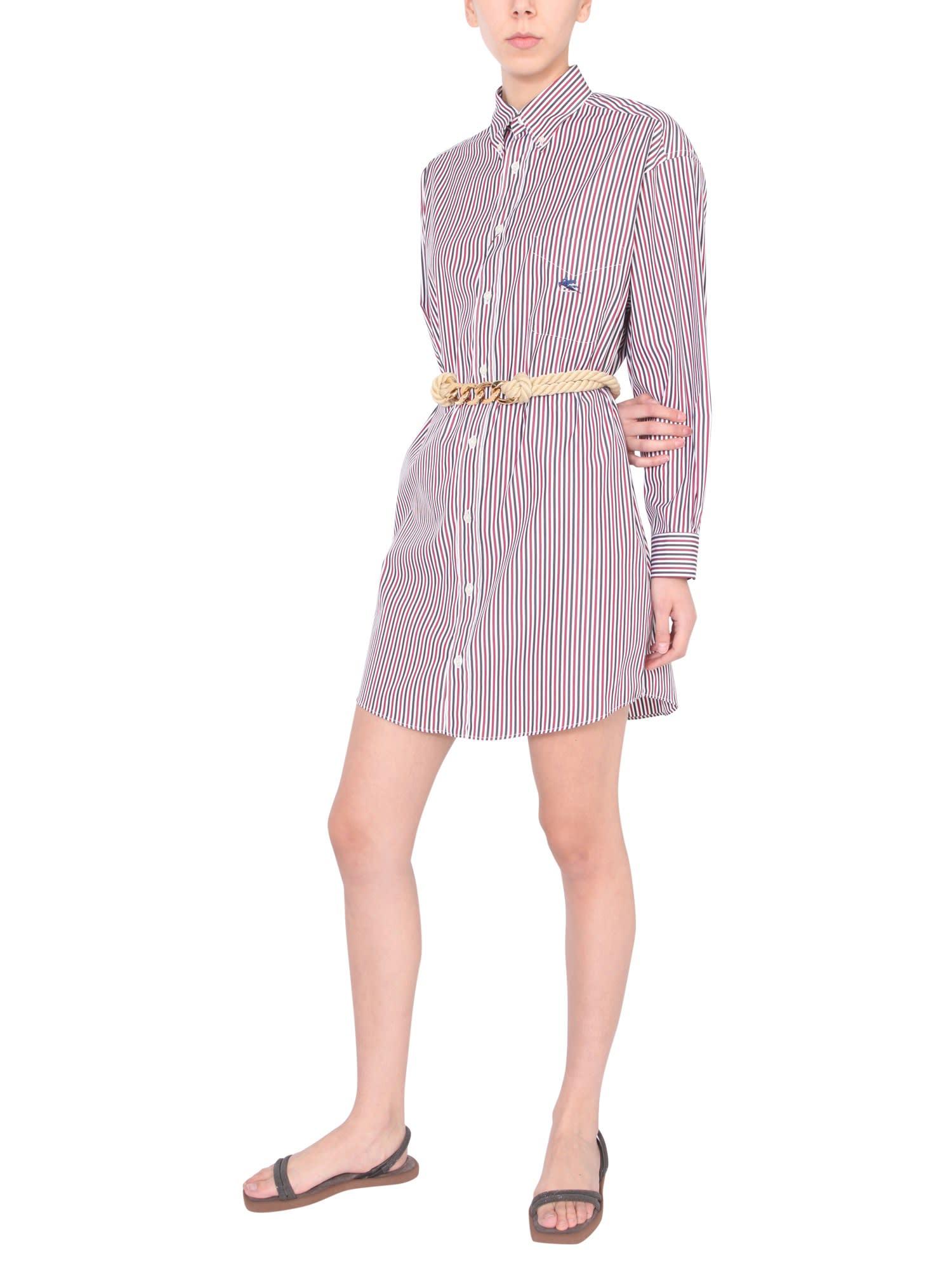 Etro Downs STRIPED SHIRT DRESS