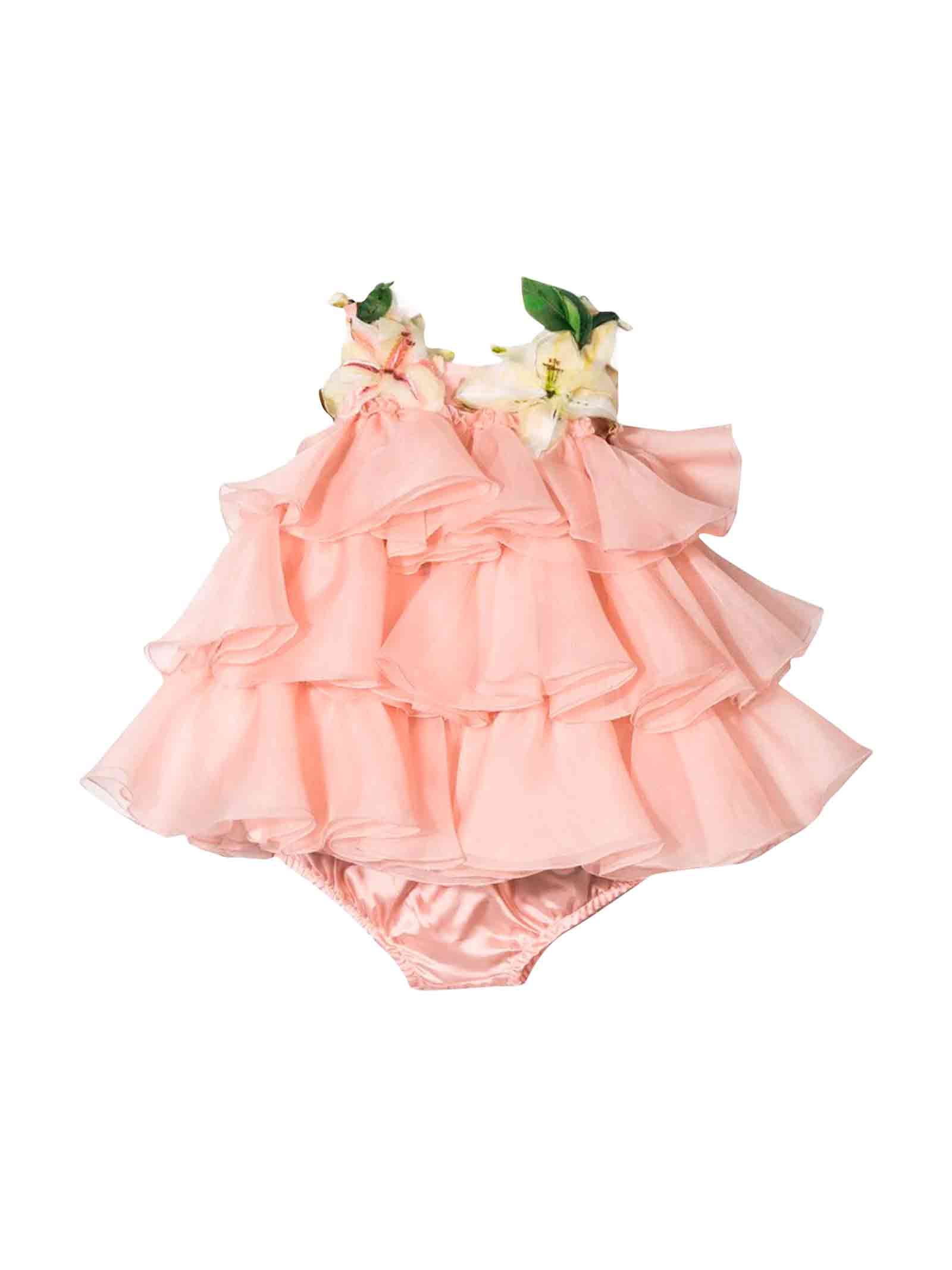 Dolce & Gabbana Pink Newborn Dress Dolce And Gabbana Kids