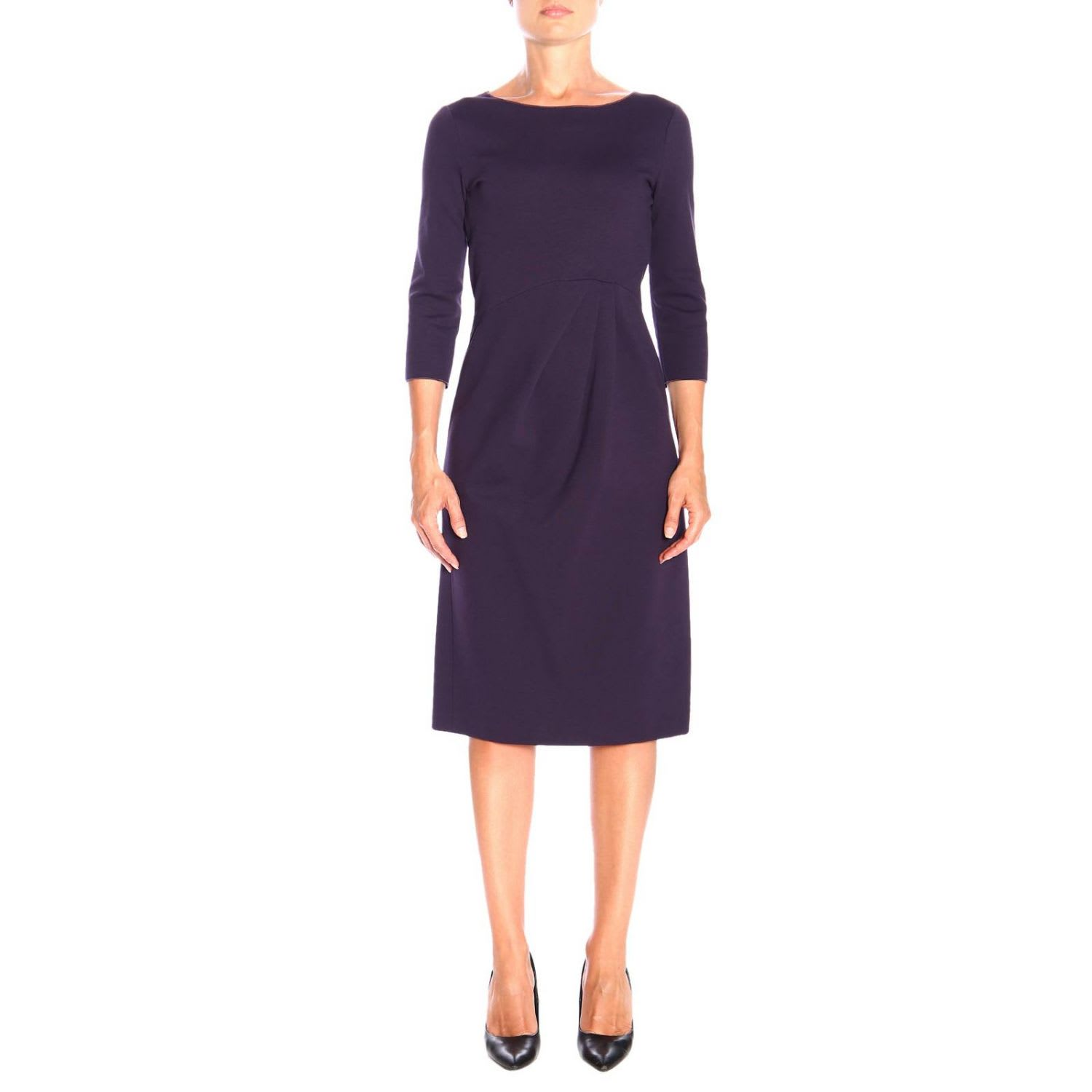 Emporio Armani Dress Emporio Armani Dress In Draped Milano Stitch