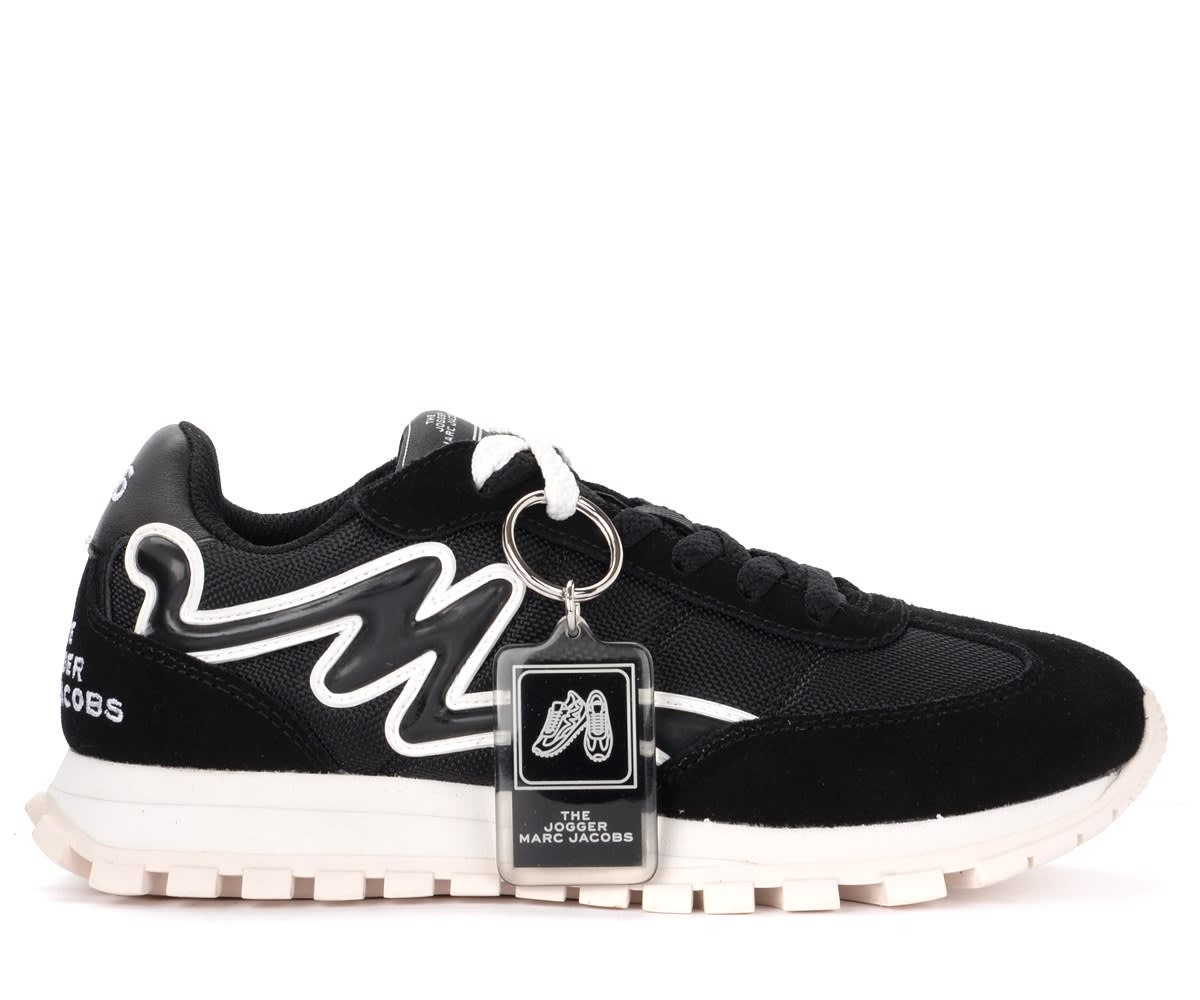 Marc Jacobs THE MARC JACOBS THE JOGGER MODEL SNEAKER IN BLACK NYLON