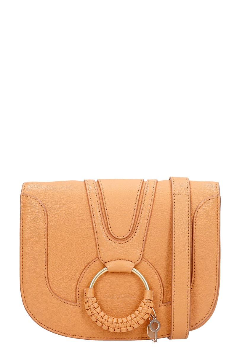 See by Chloé Hana Shoulder Bag In Orange Leather