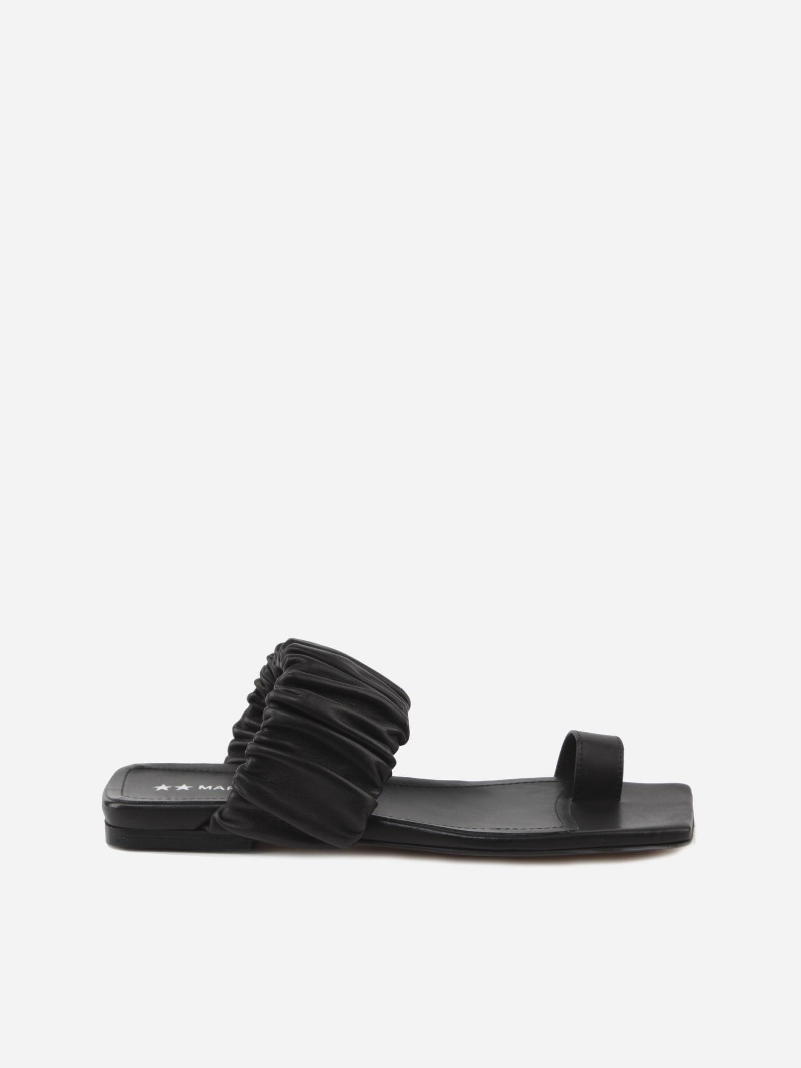 Nova Leather Flat Sandals