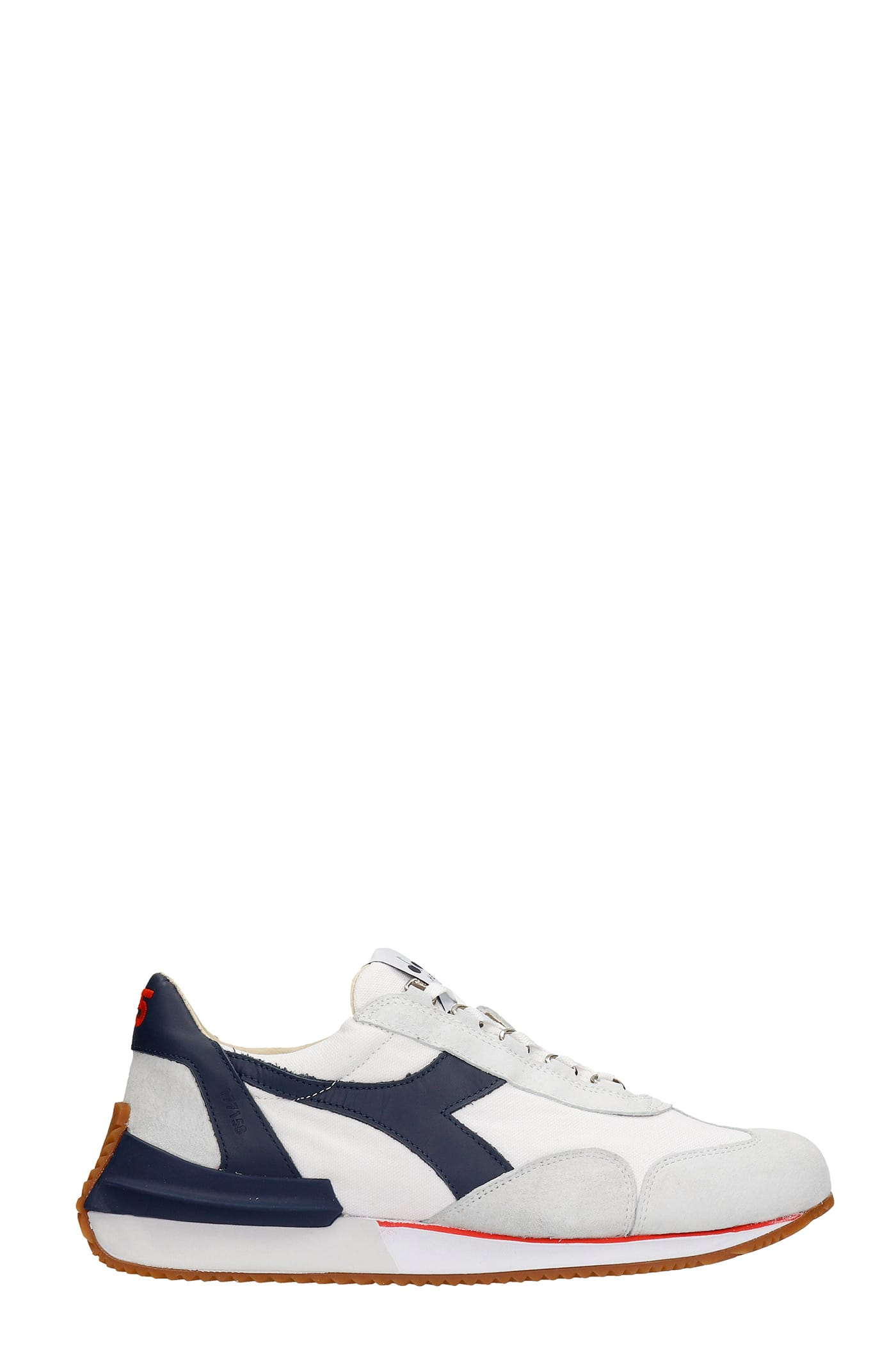 Equipe Sneakers In White Suede And Fabric