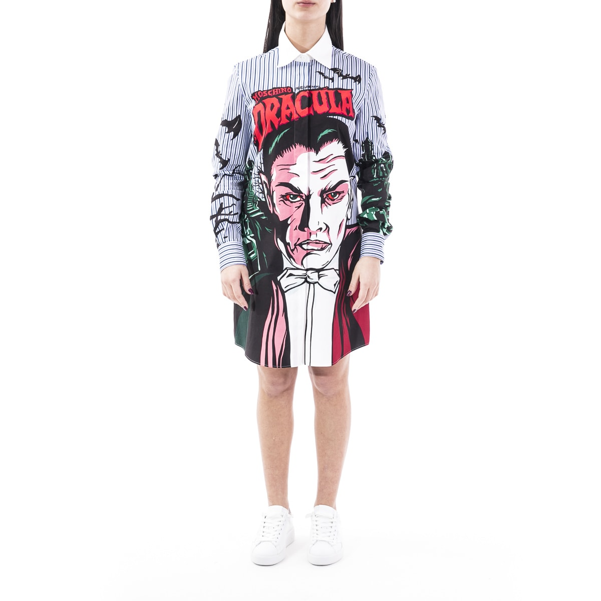 Buy Moschino Blend Cotton Dress online, shop Moschino with free shipping