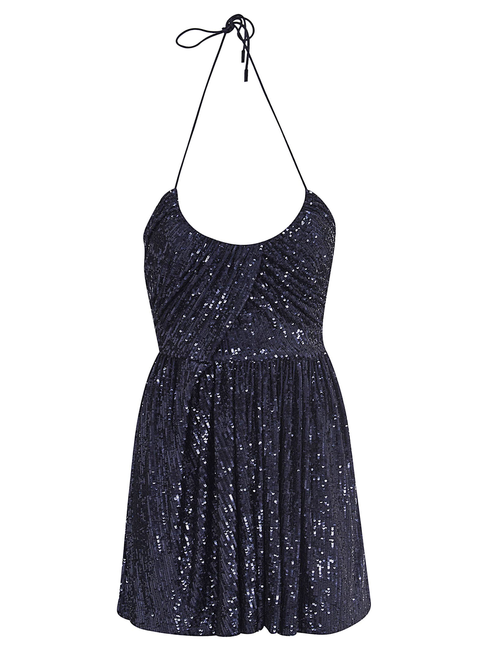 Buy Saint Laurent Sequin-coated Short Dress online, shop Saint Laurent with free shipping