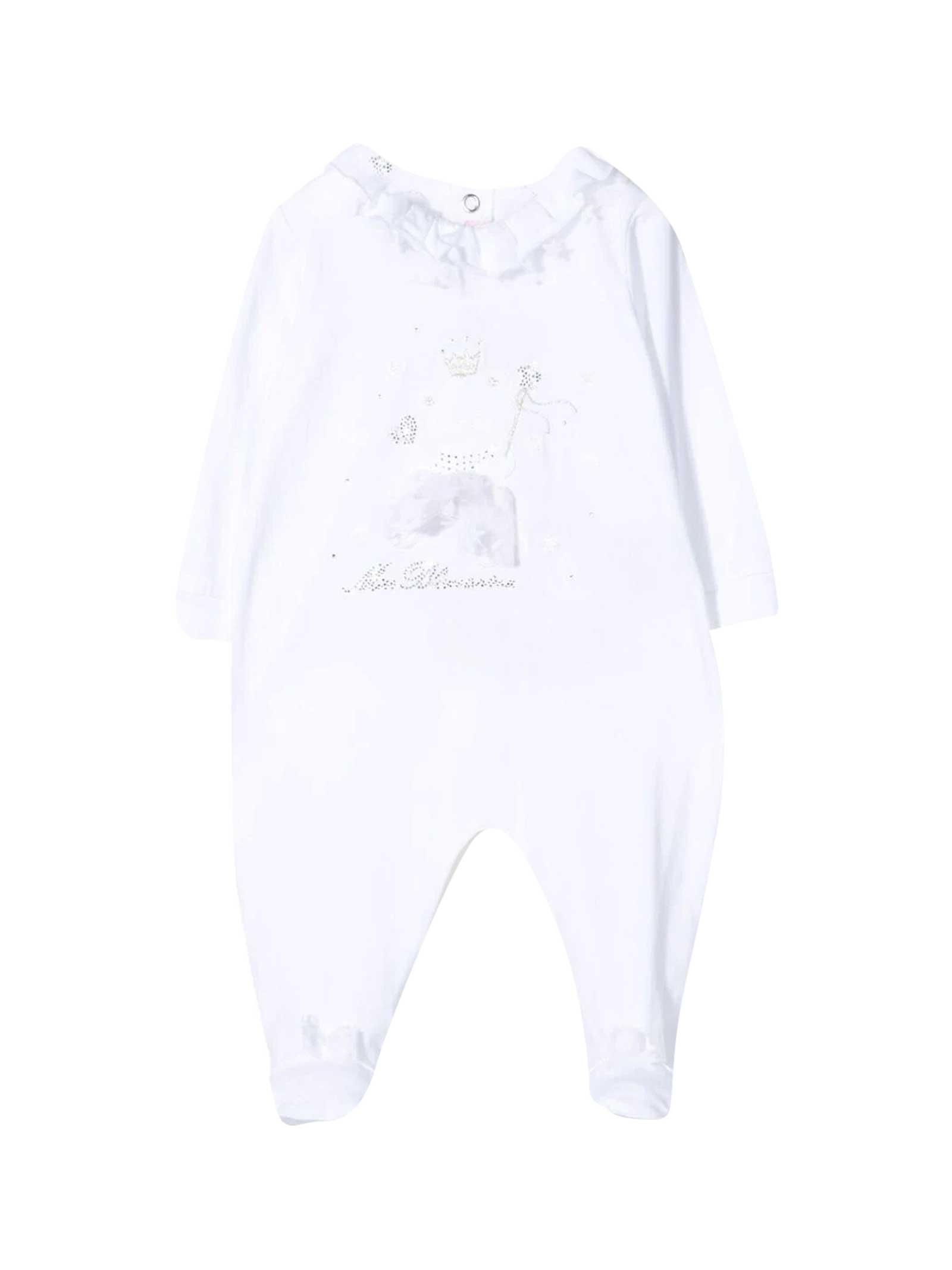 Miss Blumarine Cottons WHITE ROMPERS