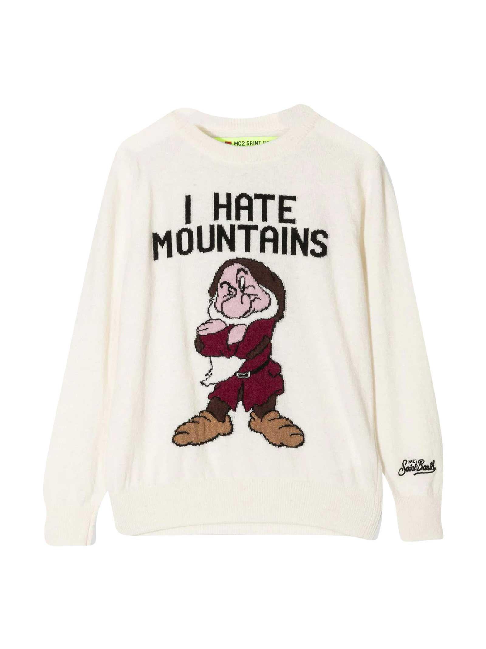 MC2 Saint Barth White Sweater