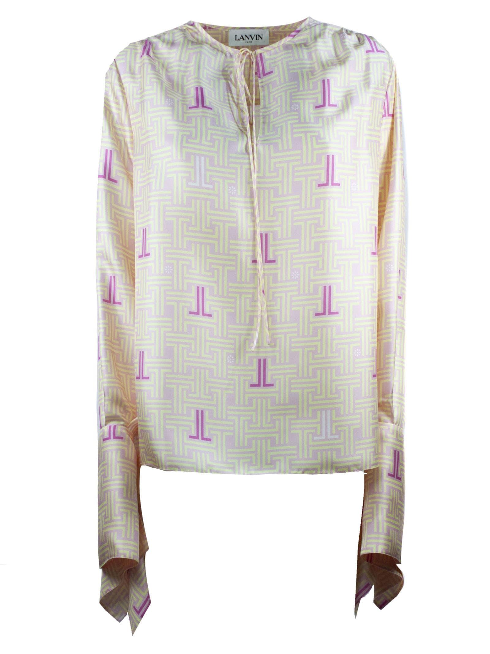 Lanvin Pink Silk Jl Labyrinth Blouse