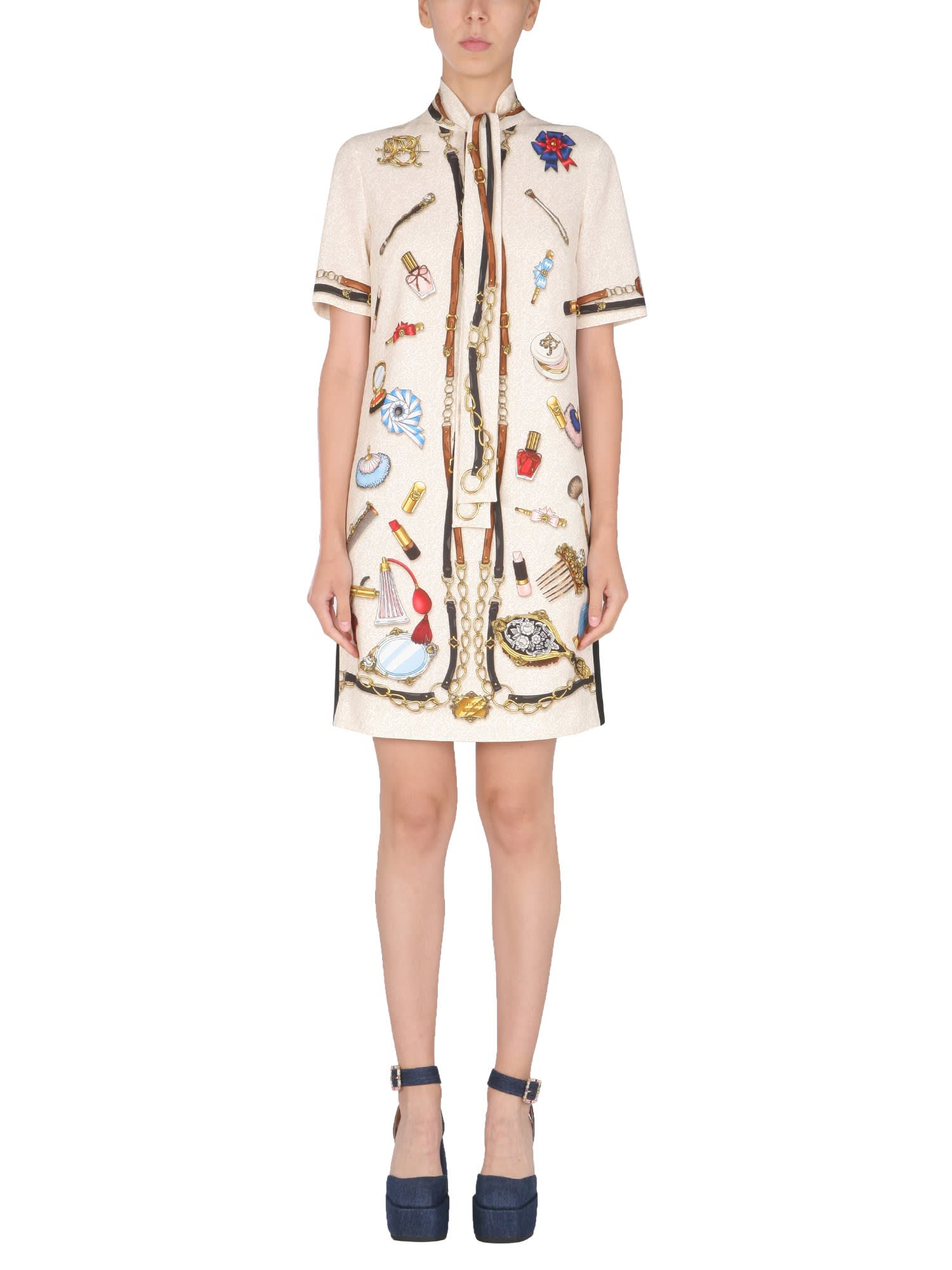 Buy Boutique Moschino Light Cady Riding Kit Dress online, shop Boutique Moschino with free shipping