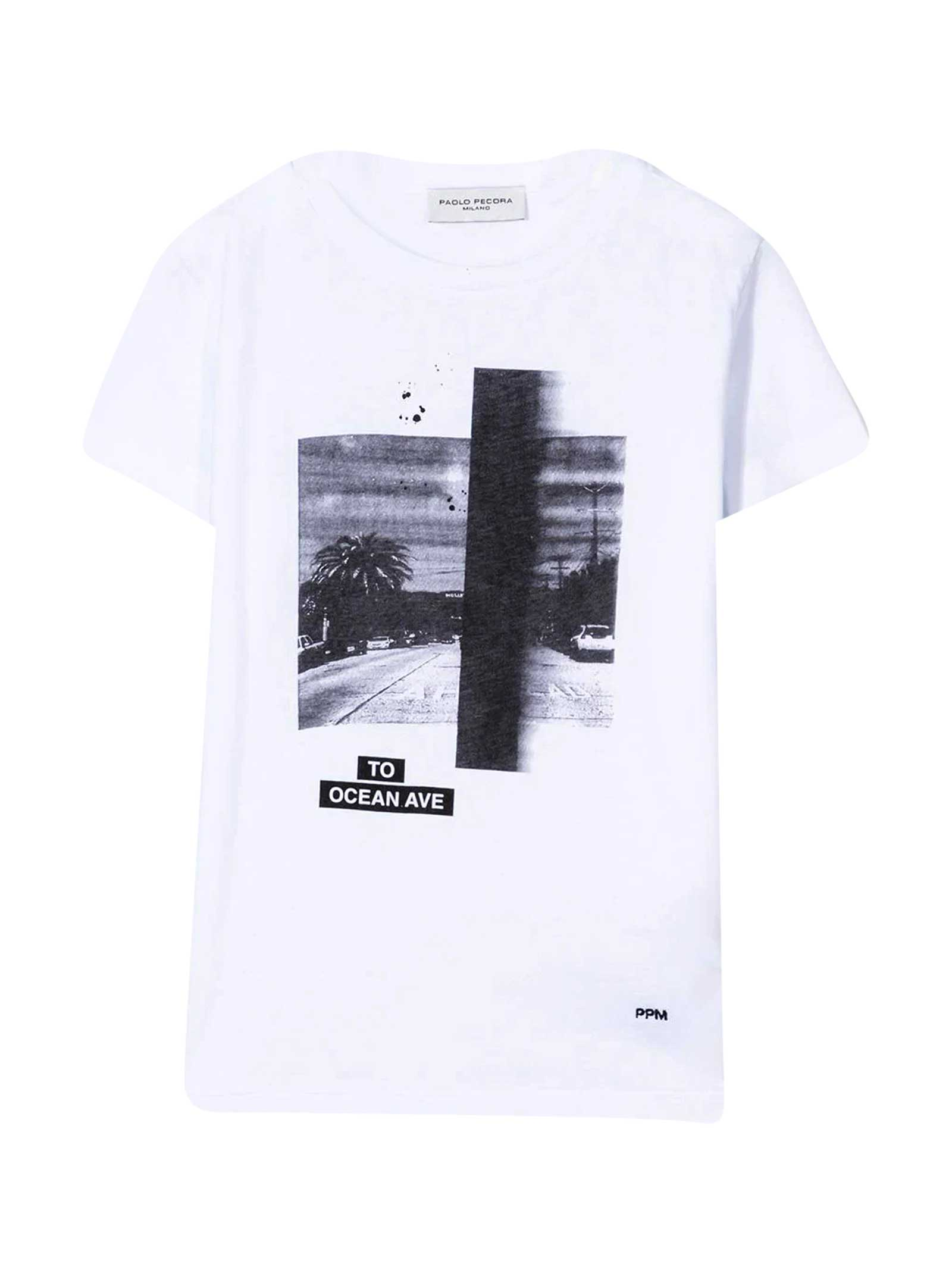 Paolo Pecora TEEN T-SHIRT WITH PRESS