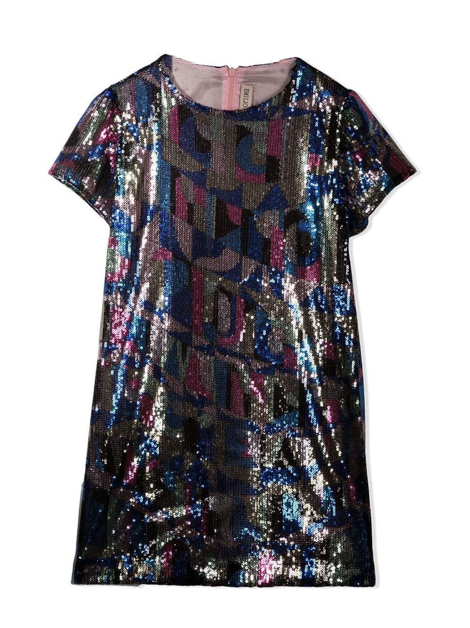 Emilio Pucci Sequinned Geometric Dress