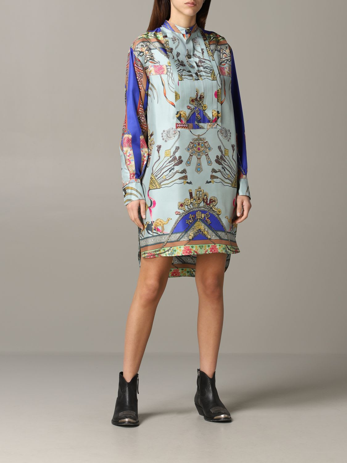 Buy Etro Dress Etro Shirt Dress In Silk With Moroccan Print online, shop Etro with free shipping