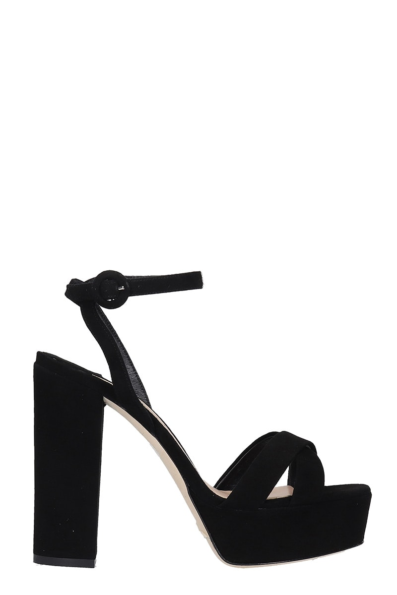 The Seller Sandals In Black Suede