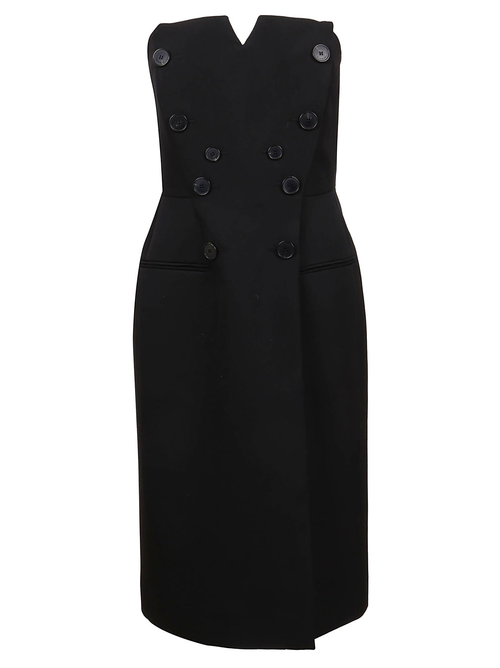 Buy Givenchy Bustier Dress In Grain De Poudre online, shop Givenchy with free shipping