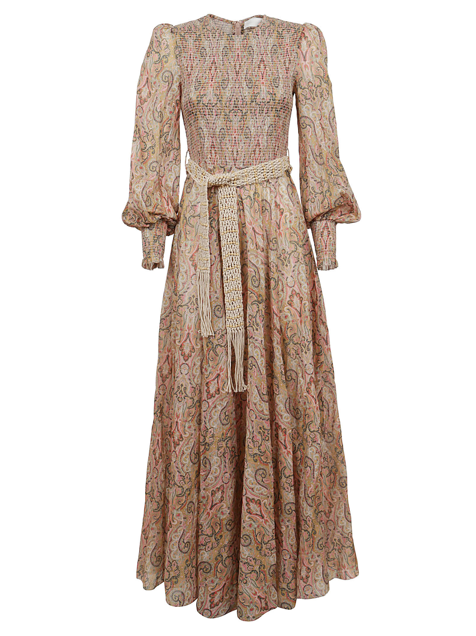 Buy Zimmermann Freja Shirred Maxi Dress online, shop Zimmermann with free shipping