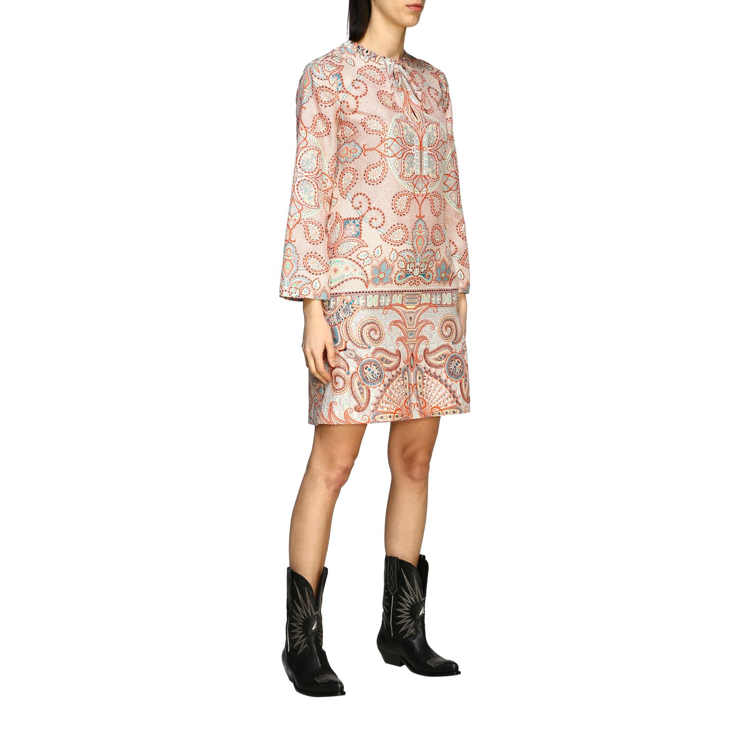 Buy Etro Dress Etro Silk Dress With Paisley Print online, shop Etro with free shipping