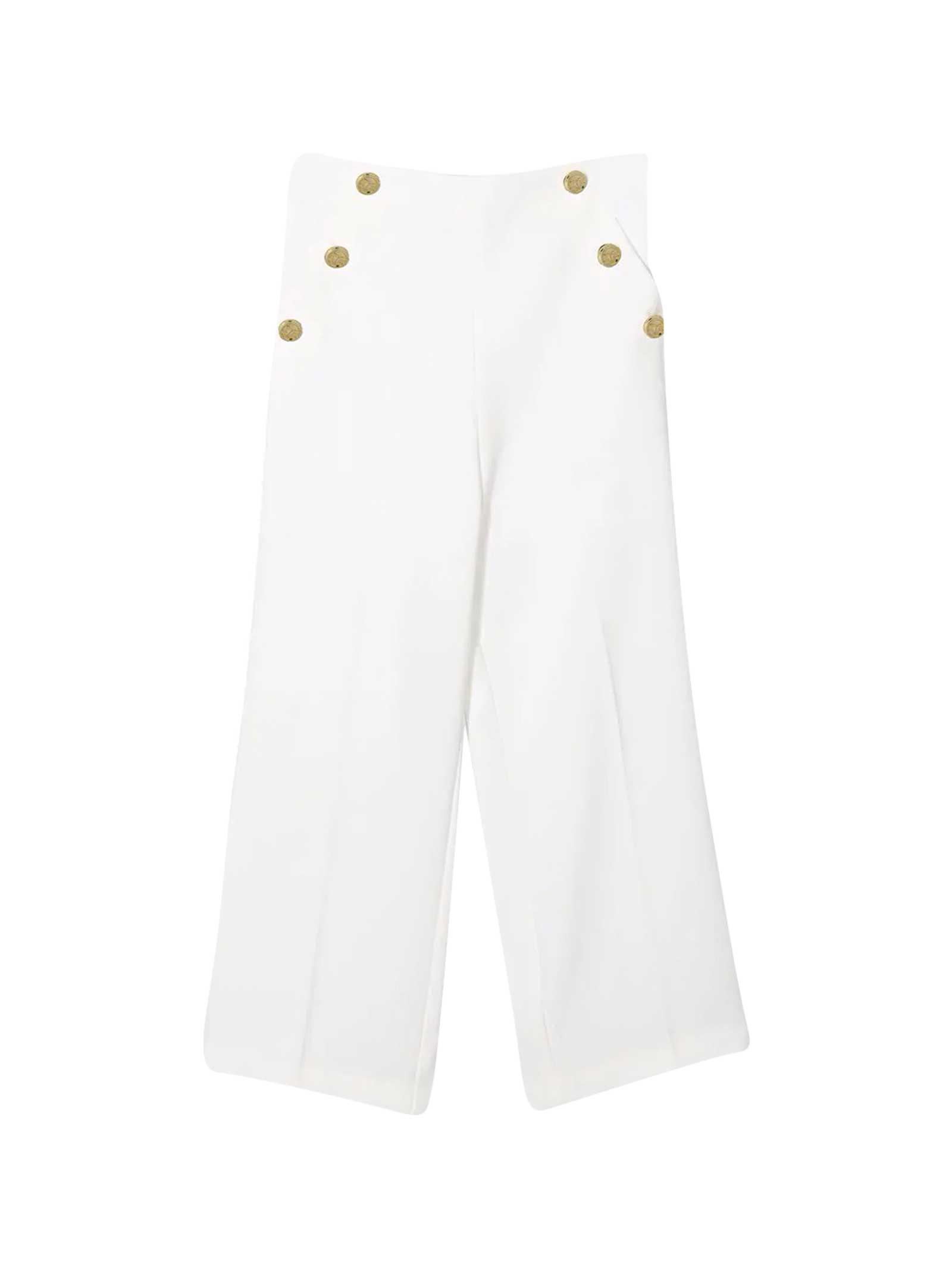 Elisabetta Franchi La Mia Bambini White Trousers