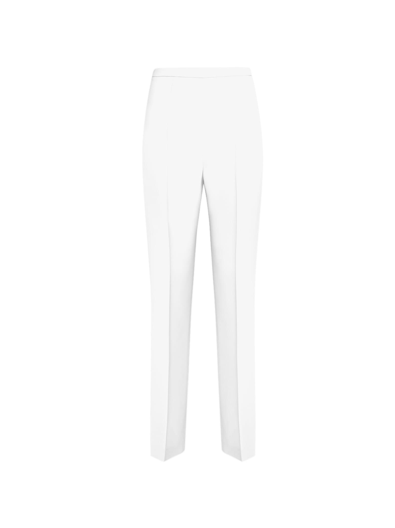 White High-rise Trousers
