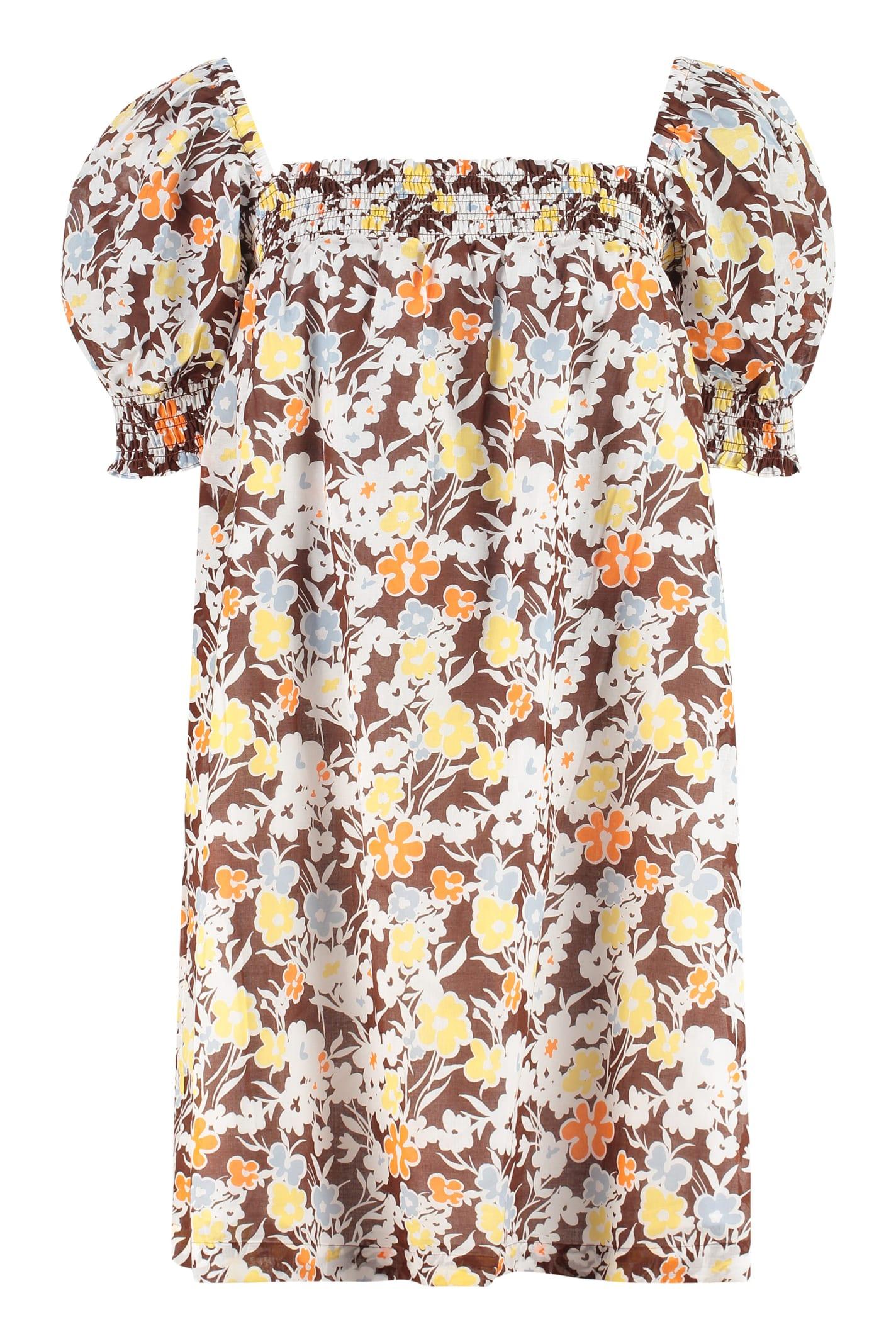 Buy Tory Burch Cotton Mini-dress online, shop Tory Burch with free shipping