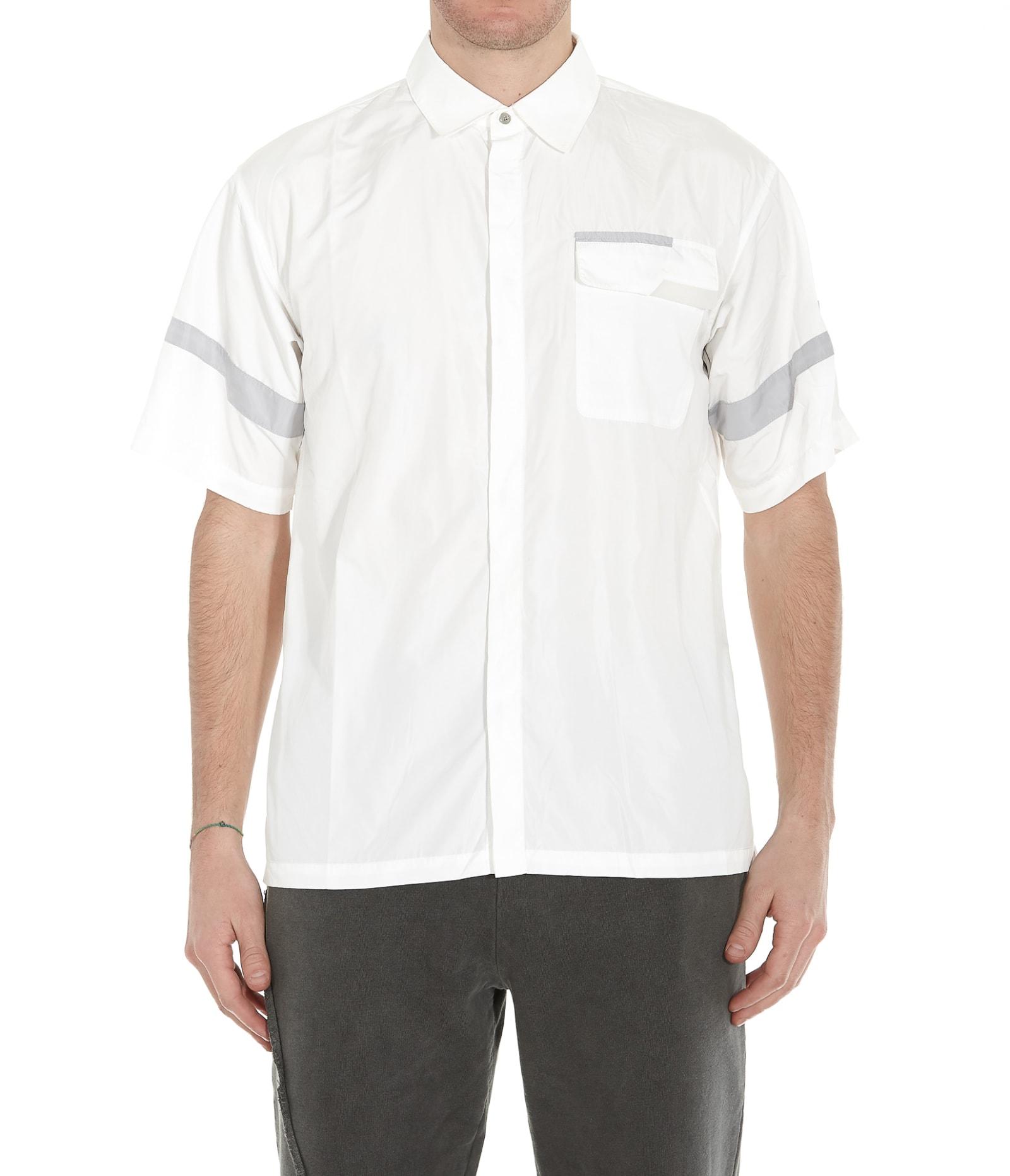 C2h4 Post Human Era Time Secret-service Panelled Short Sleeve Shirt