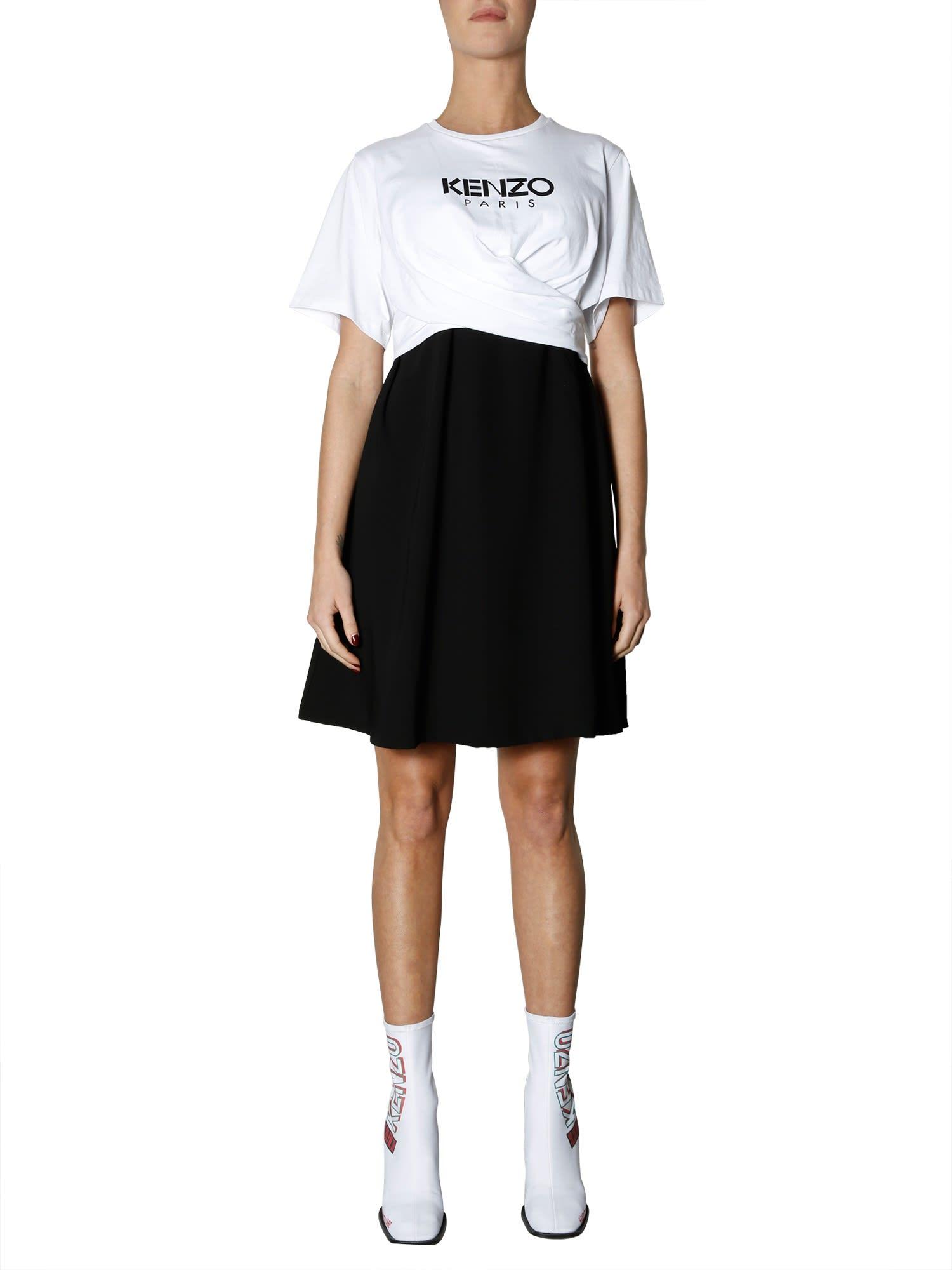 Kenzo Logo Printed Dress