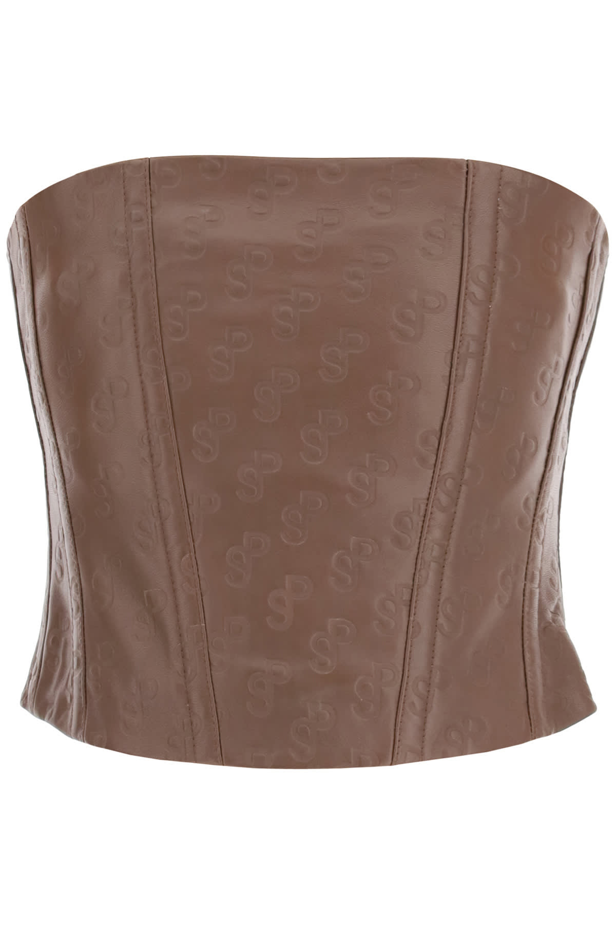 Saks Potts TATTOO BUSTIER TOP IN MONOGRAM LEATHER
