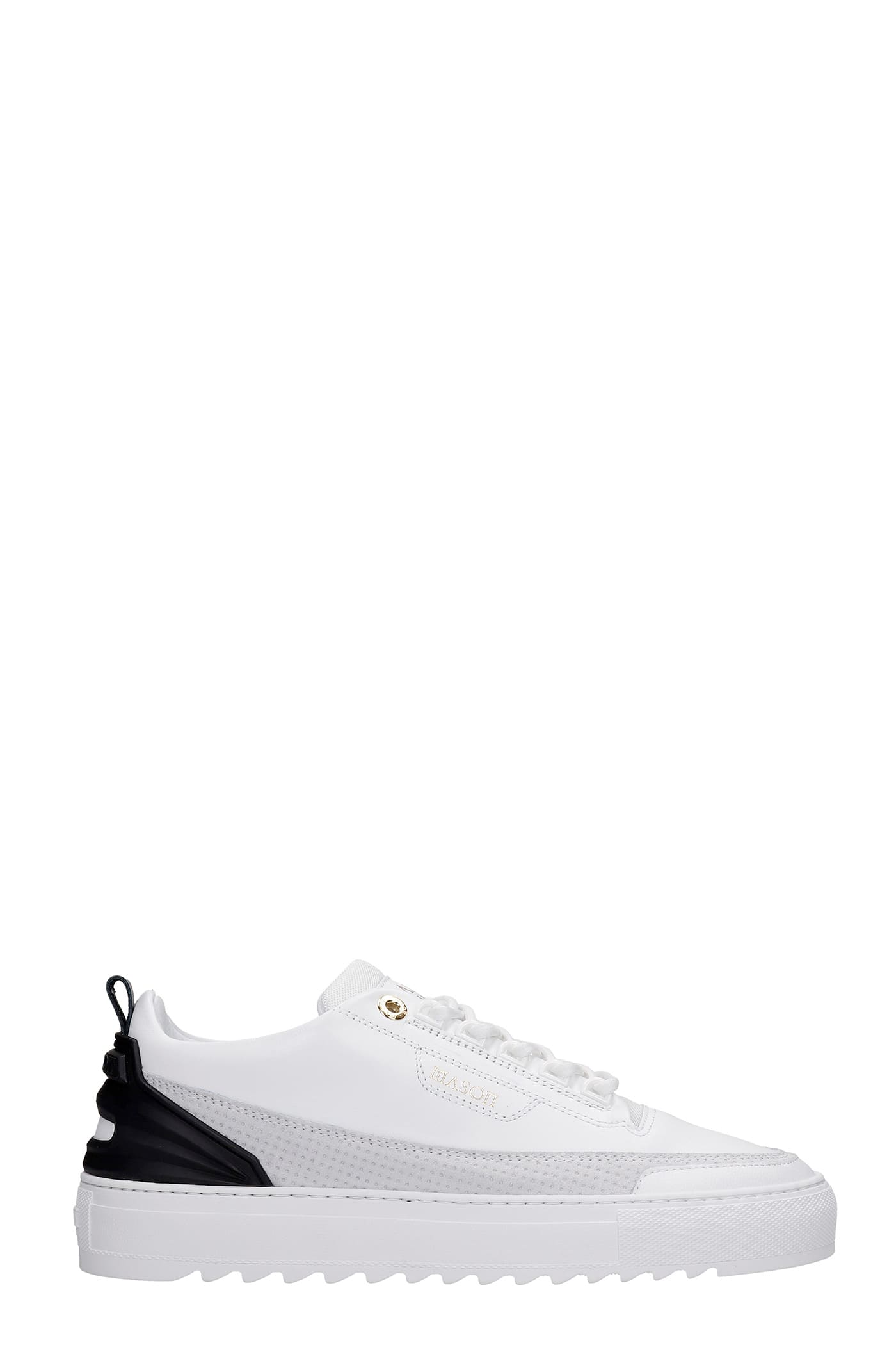 Firenze Sneakers In White Leather