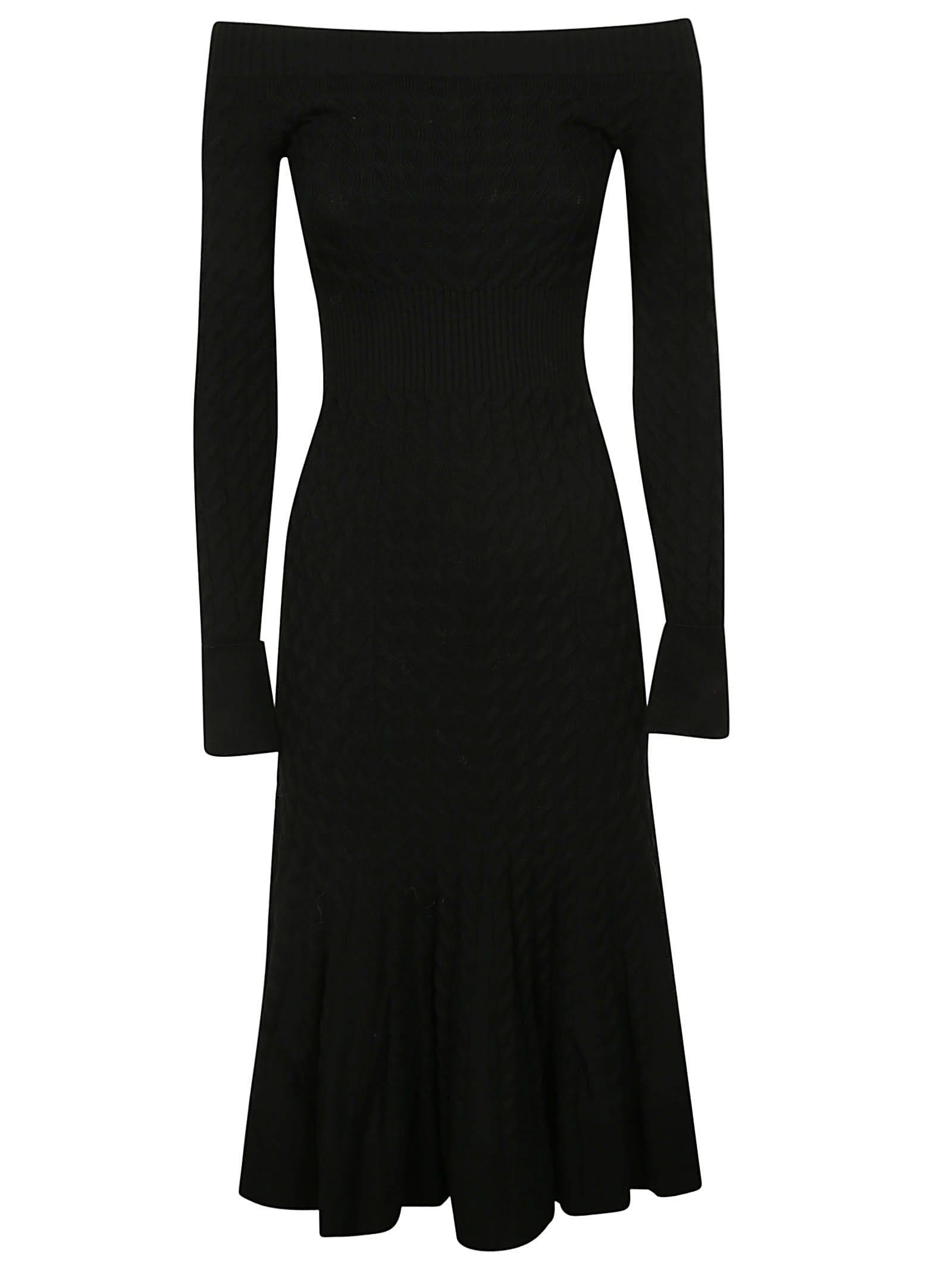 Alexander McQueen Off Shoulder Dress