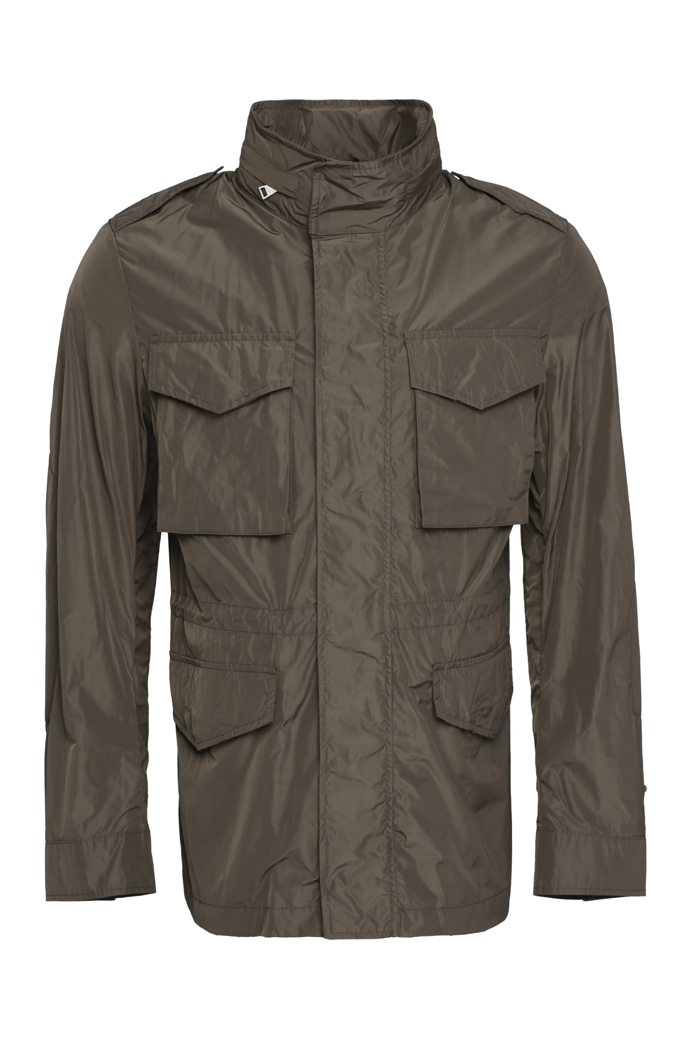 Add Techno Fabric Raincoat In Green